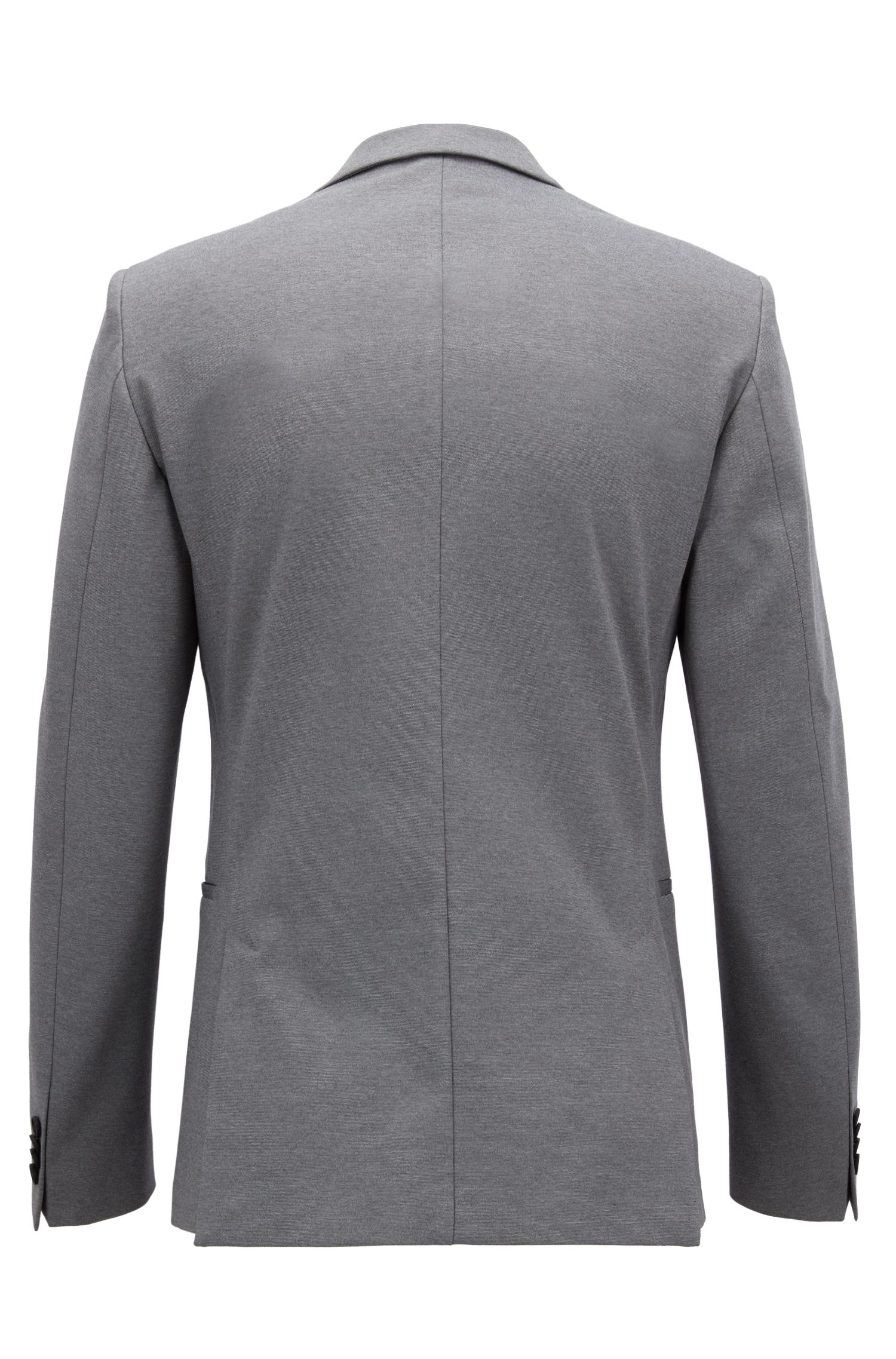 Slim-fit blazer in a stretch cotton blend