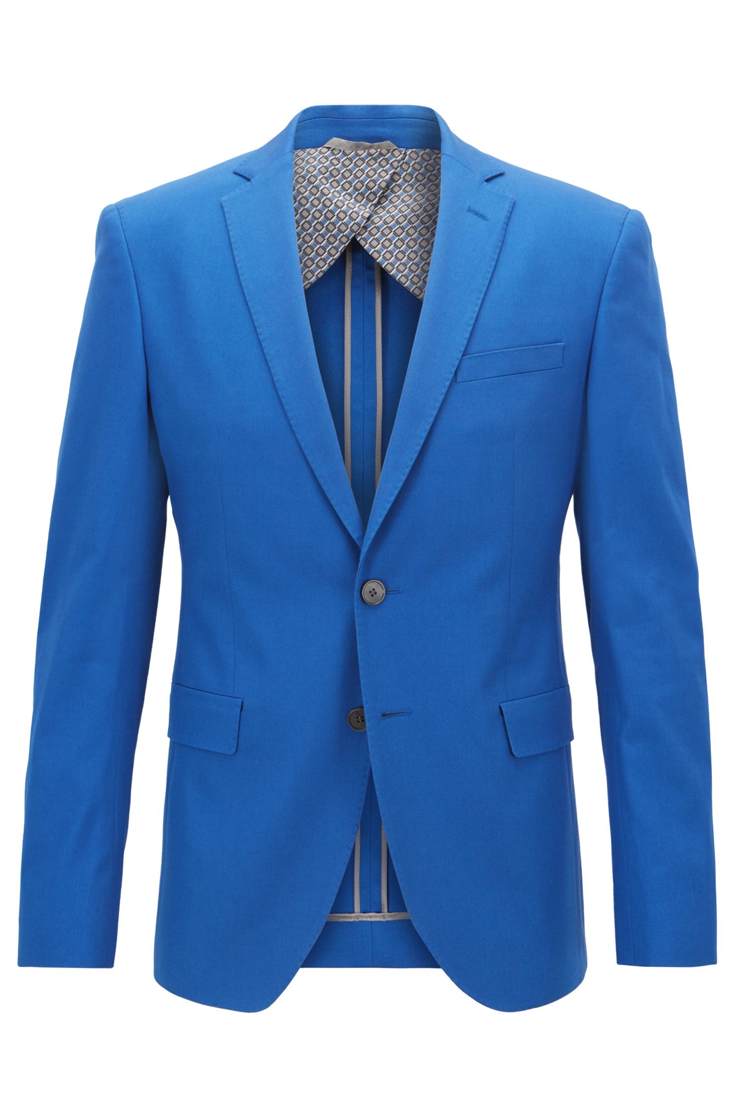 Extra-slim-fit jacket in Italian stretch-cotton