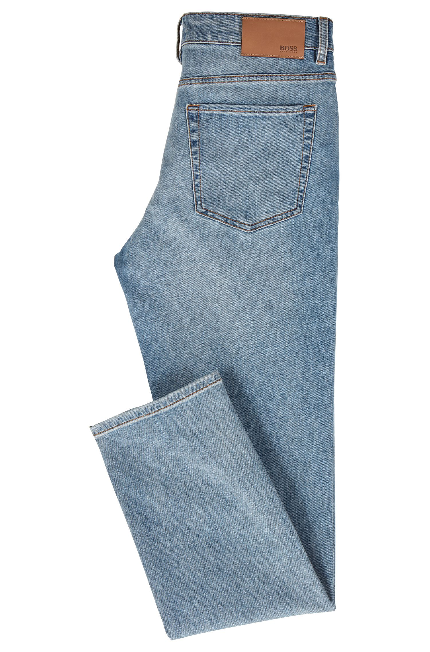 Relaxed-fit jeans in stretch cross-weave denim