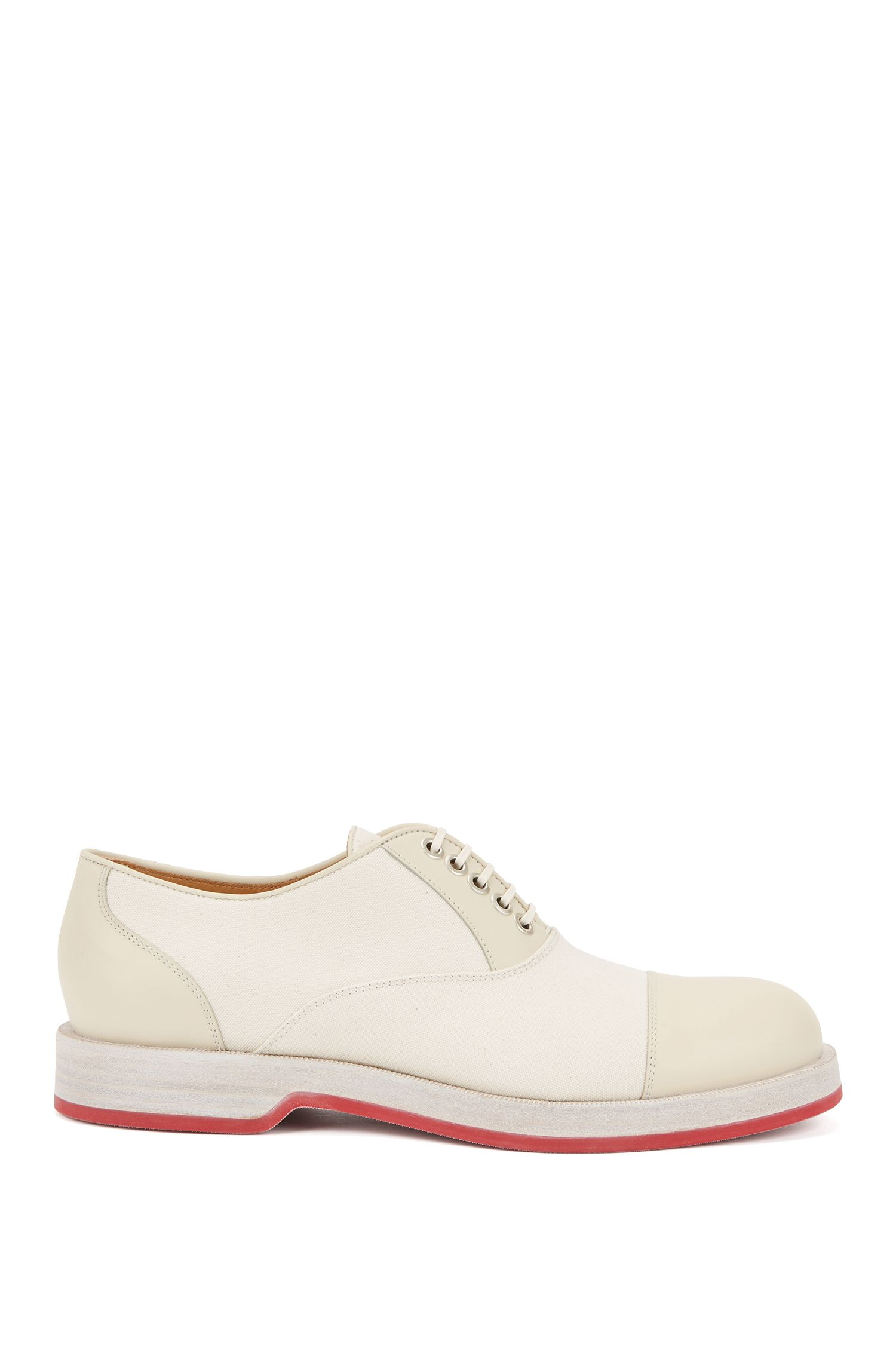 Calfskin Leather Oxford Shoes  | Rebel , Natural