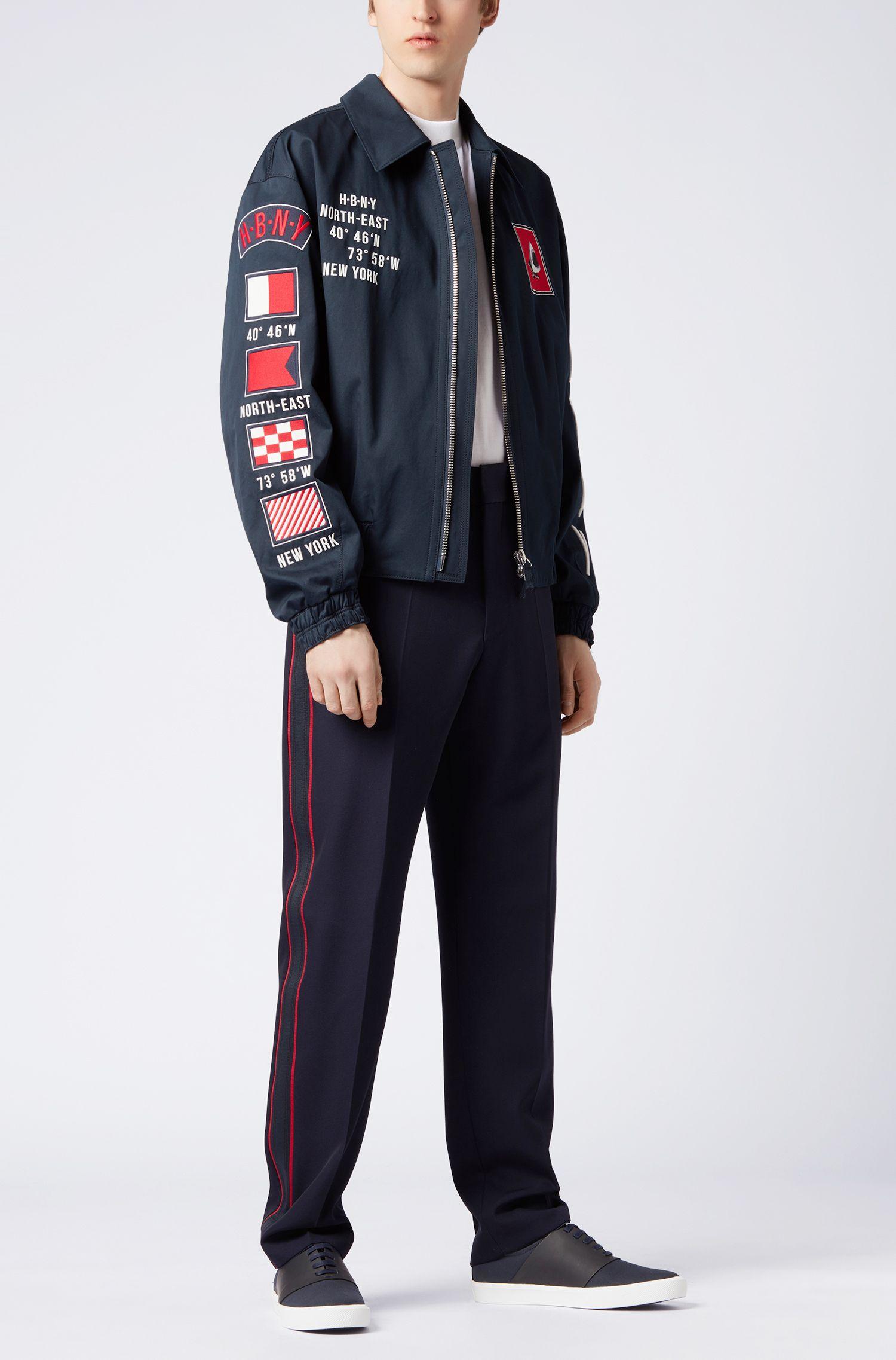Embroidered Motifs Cotton Jacket | Glenflag