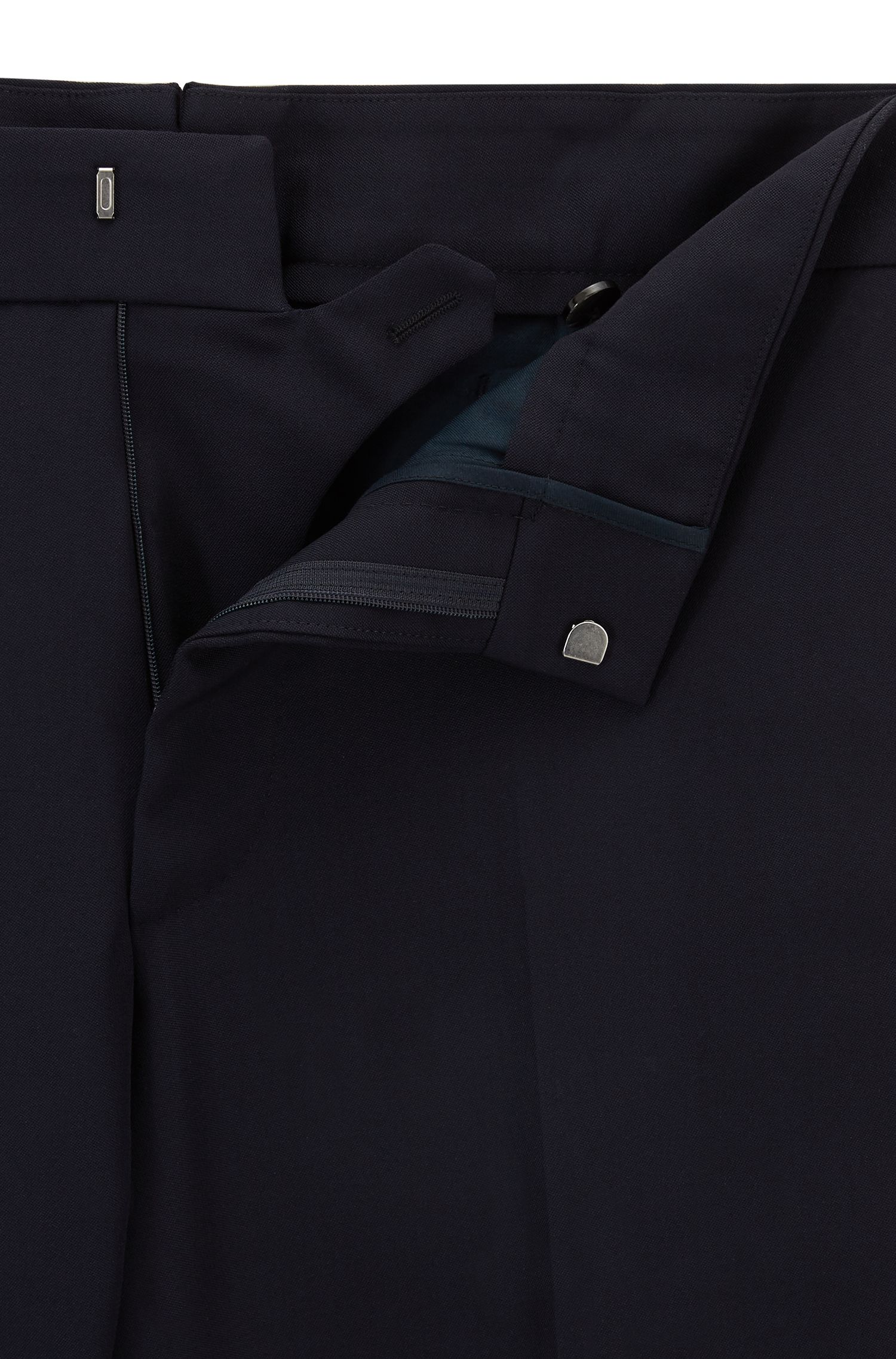 Runway Edition virgin wool trousers with taped side seam | Arden, Dark Blue