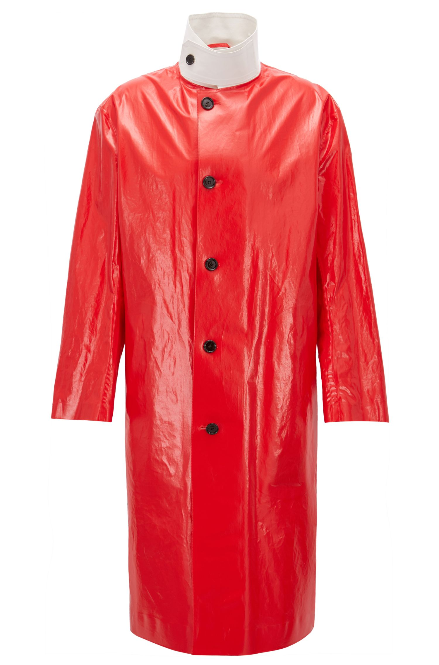 Long Coated-Cotton Trench Coat | Trinidad