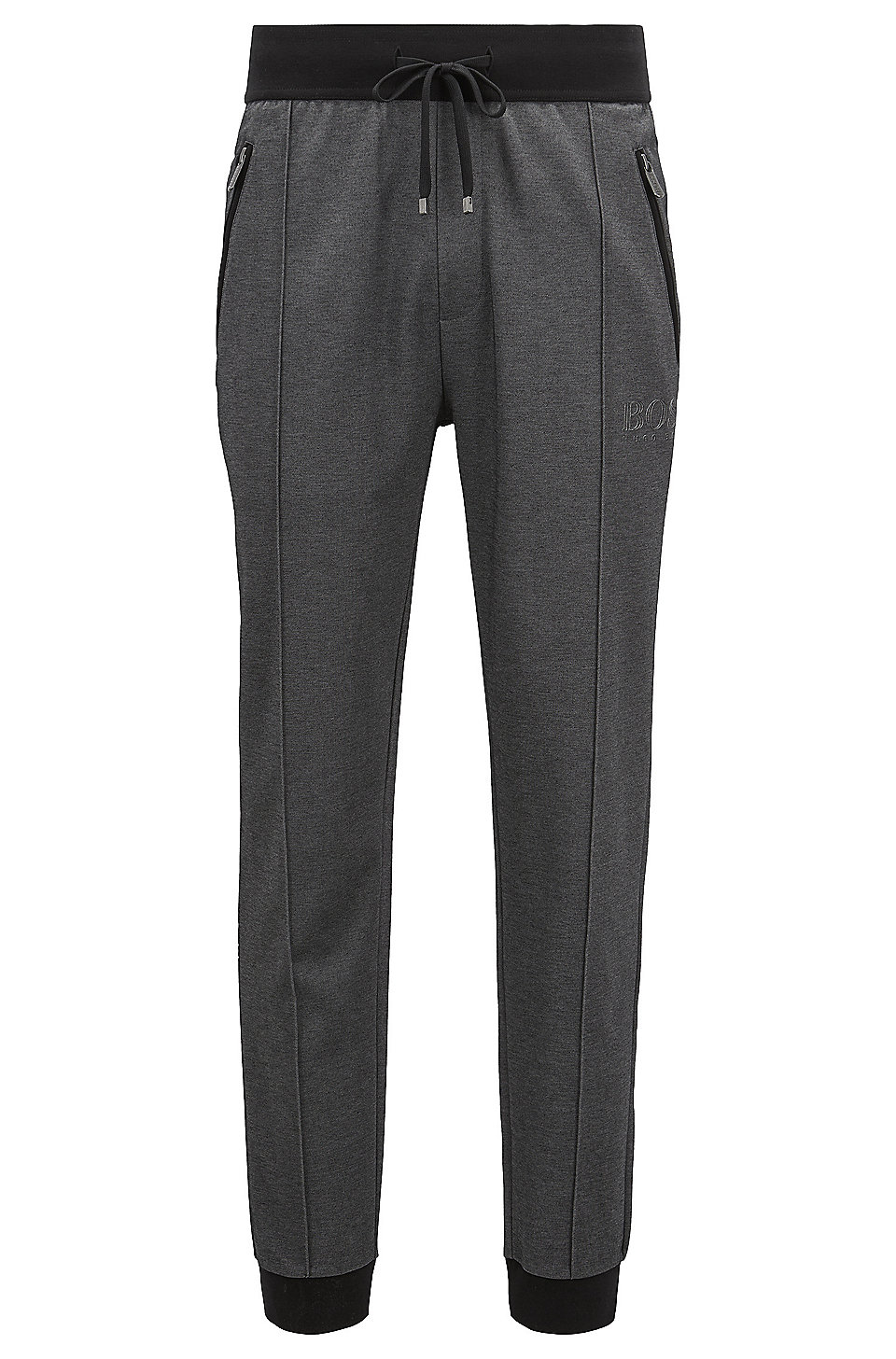 Boss Loungewear Pants In Bicolored Cotton Blend Piqu 233