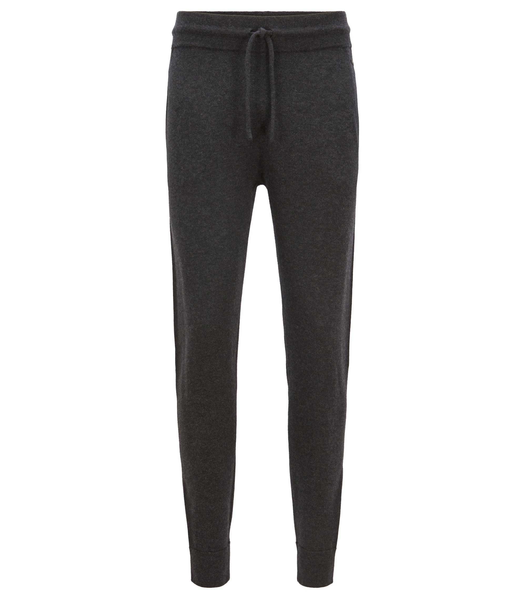 Cuffed pants in a virgin-wool blend with side stripe, Open Grey