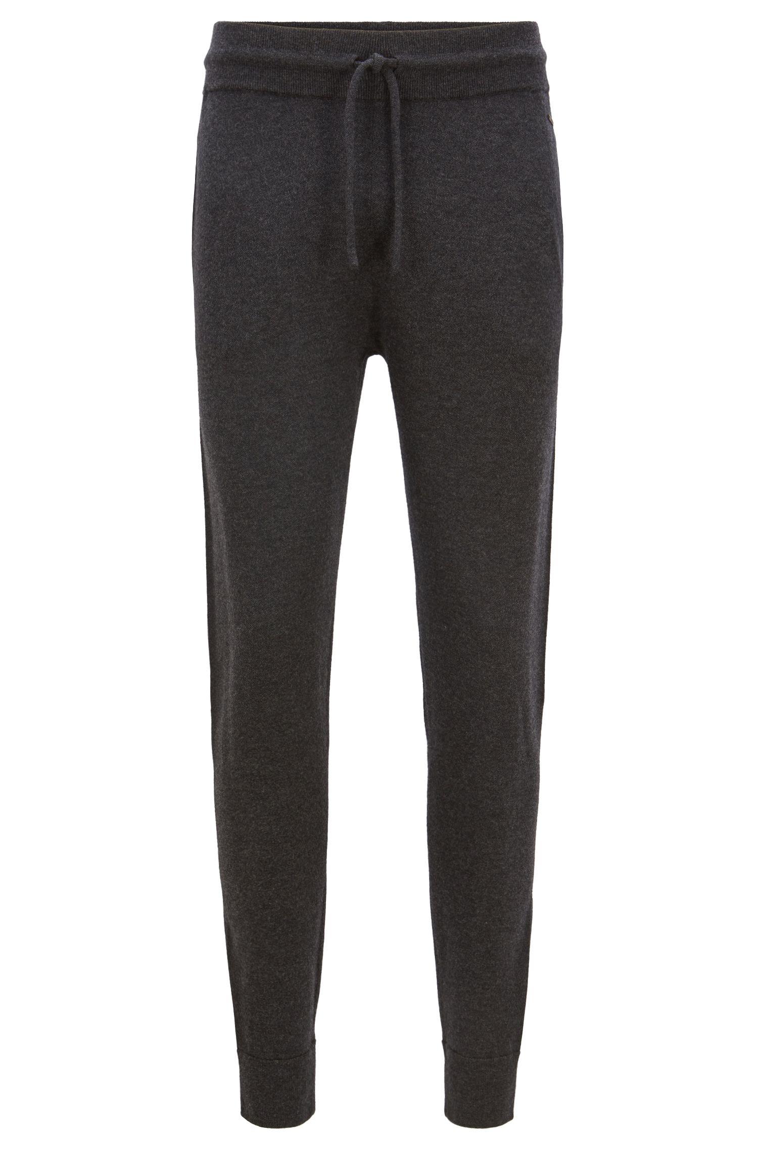 Cuffed pants in a virgin-wool blend with side stripe, Open Grey