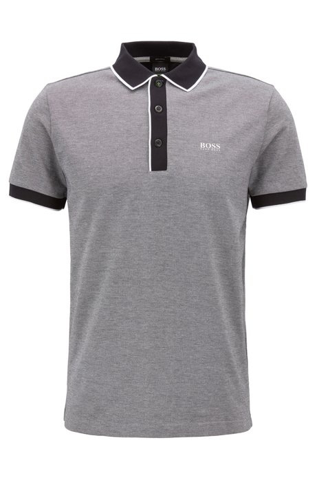 107736772 Regular-fit polo shirt in three-colored cotton piqué. Paddy 5 - 50392665