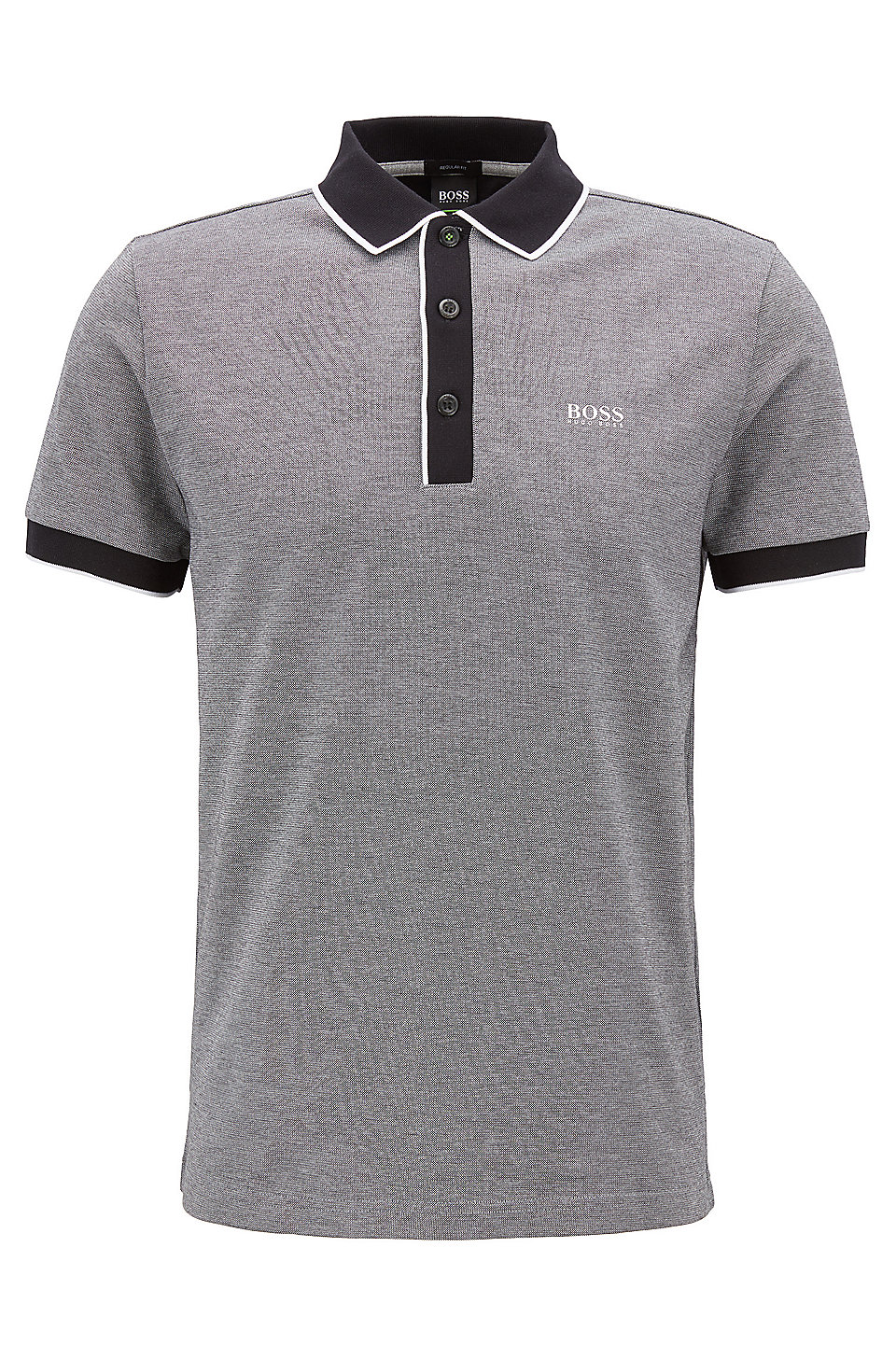 4ec7422d BOSS - Regular-fit polo shirt in three-colored cotton piqué
