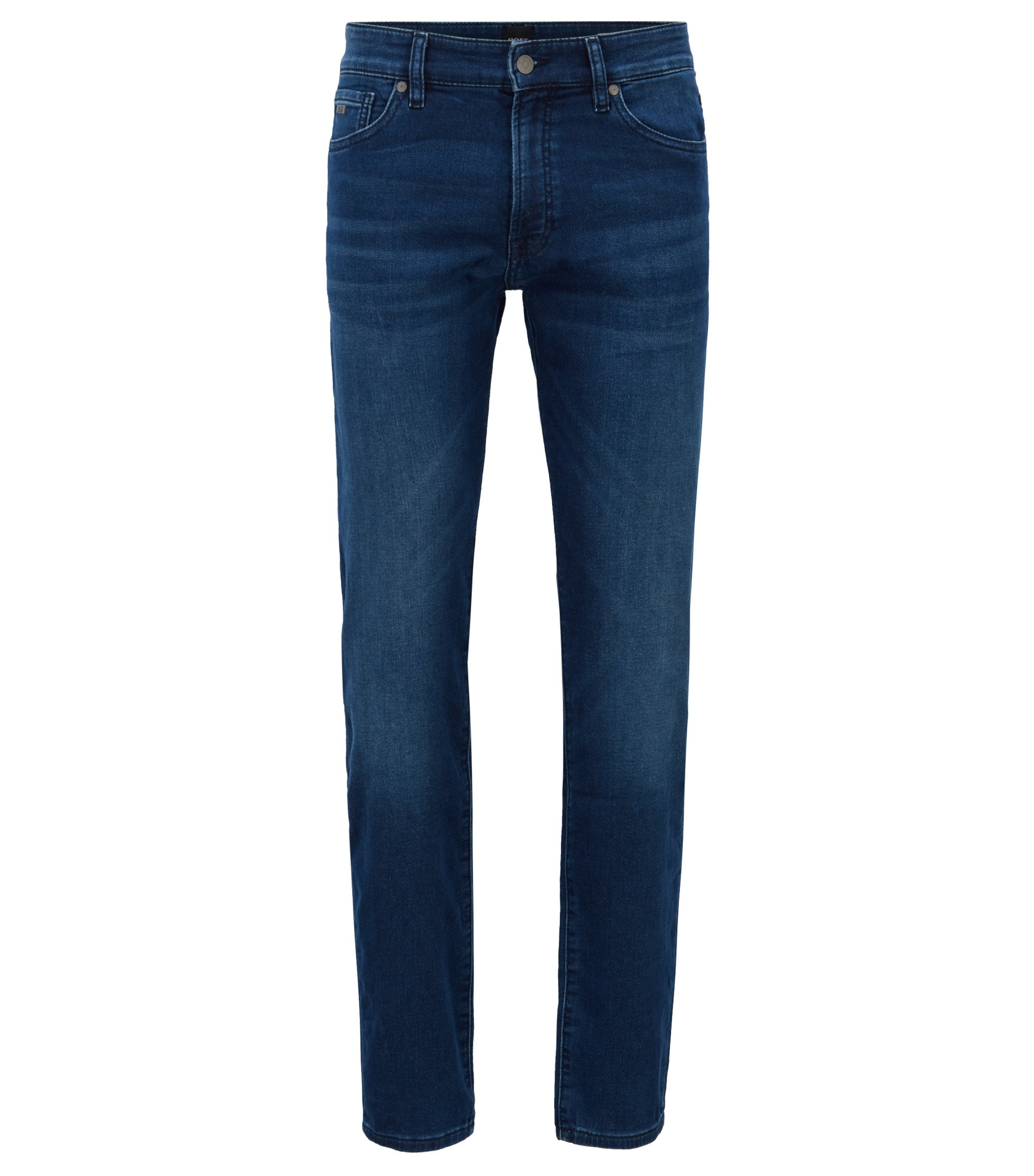 Regular-fit jeans in knitted stretch denim , Blue
