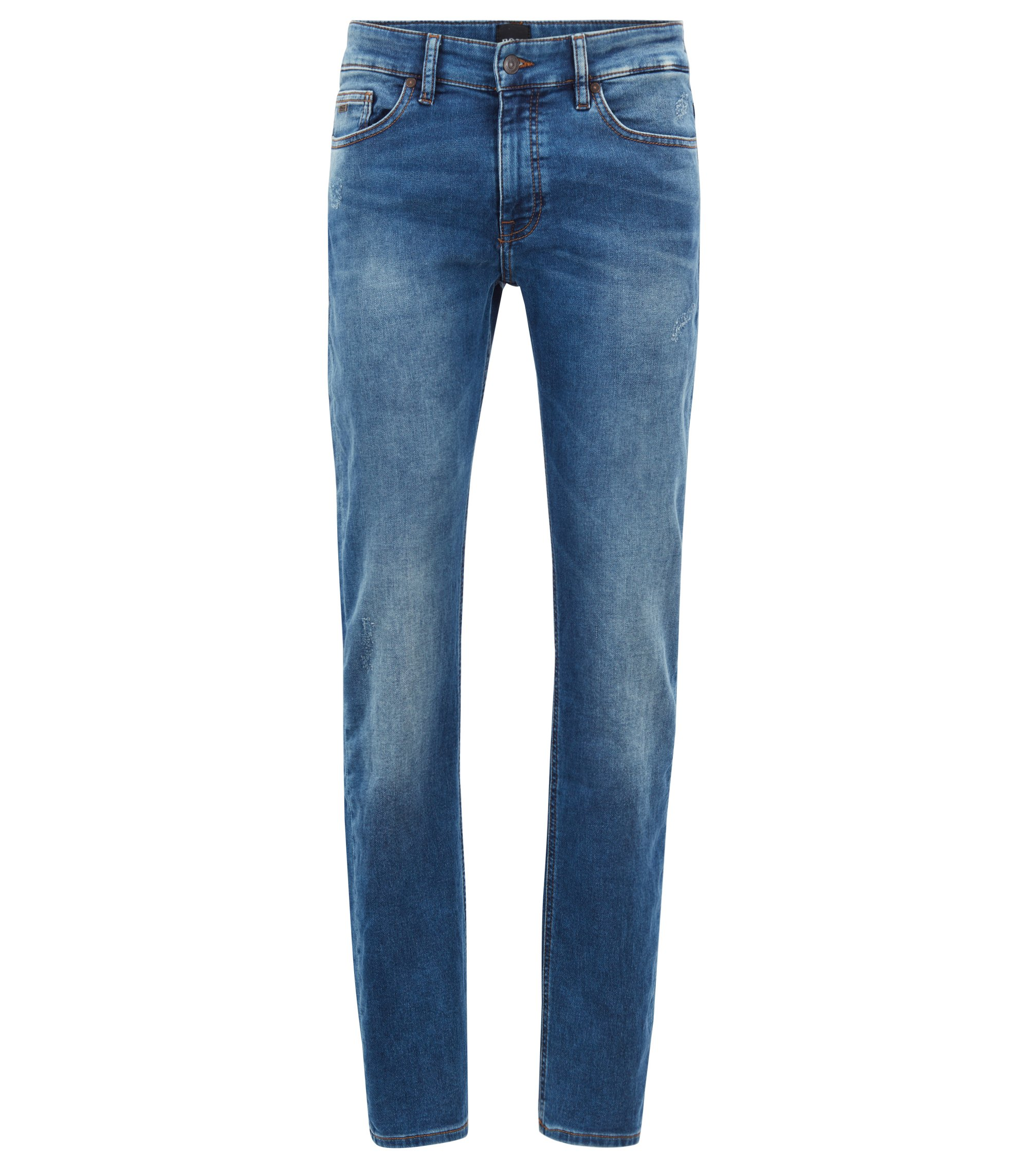 Slim-fit jeans in knitted stretch denim , Blue