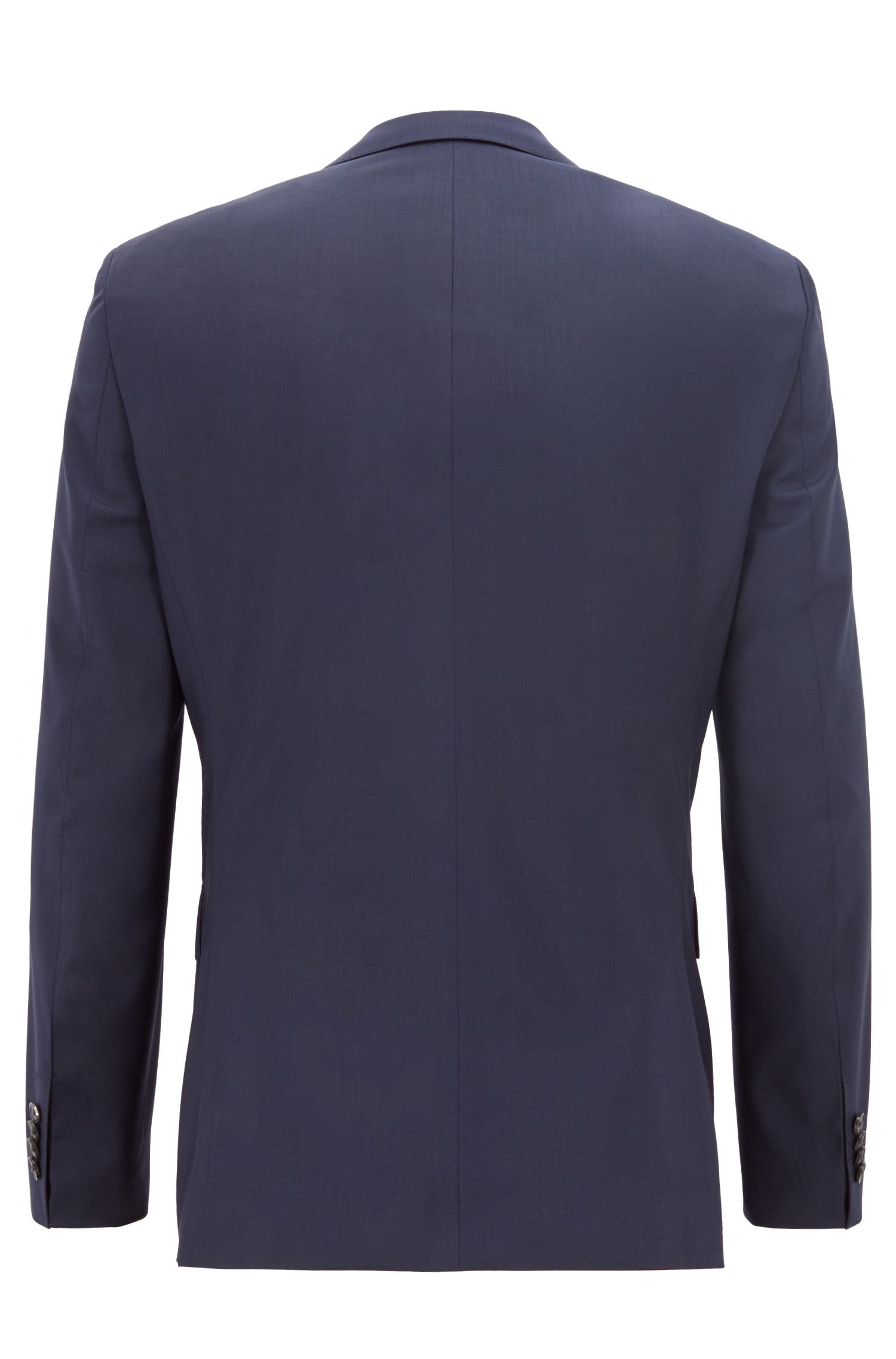 Regular-fit suit in virgin wool serge, Dark Blue