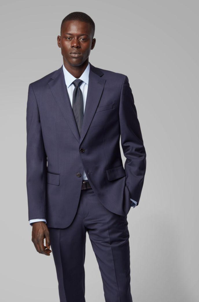 Regular-fit suit in virgin wool serge