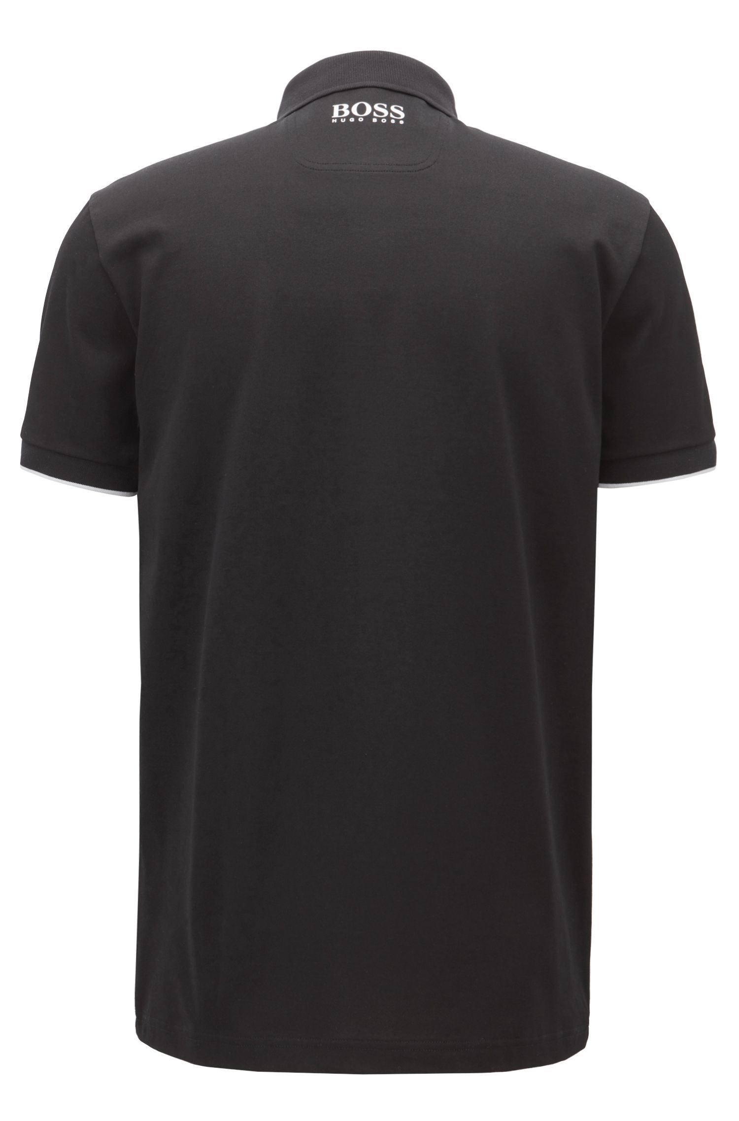 Polo shirt in a cotton blend with moisture management, Black