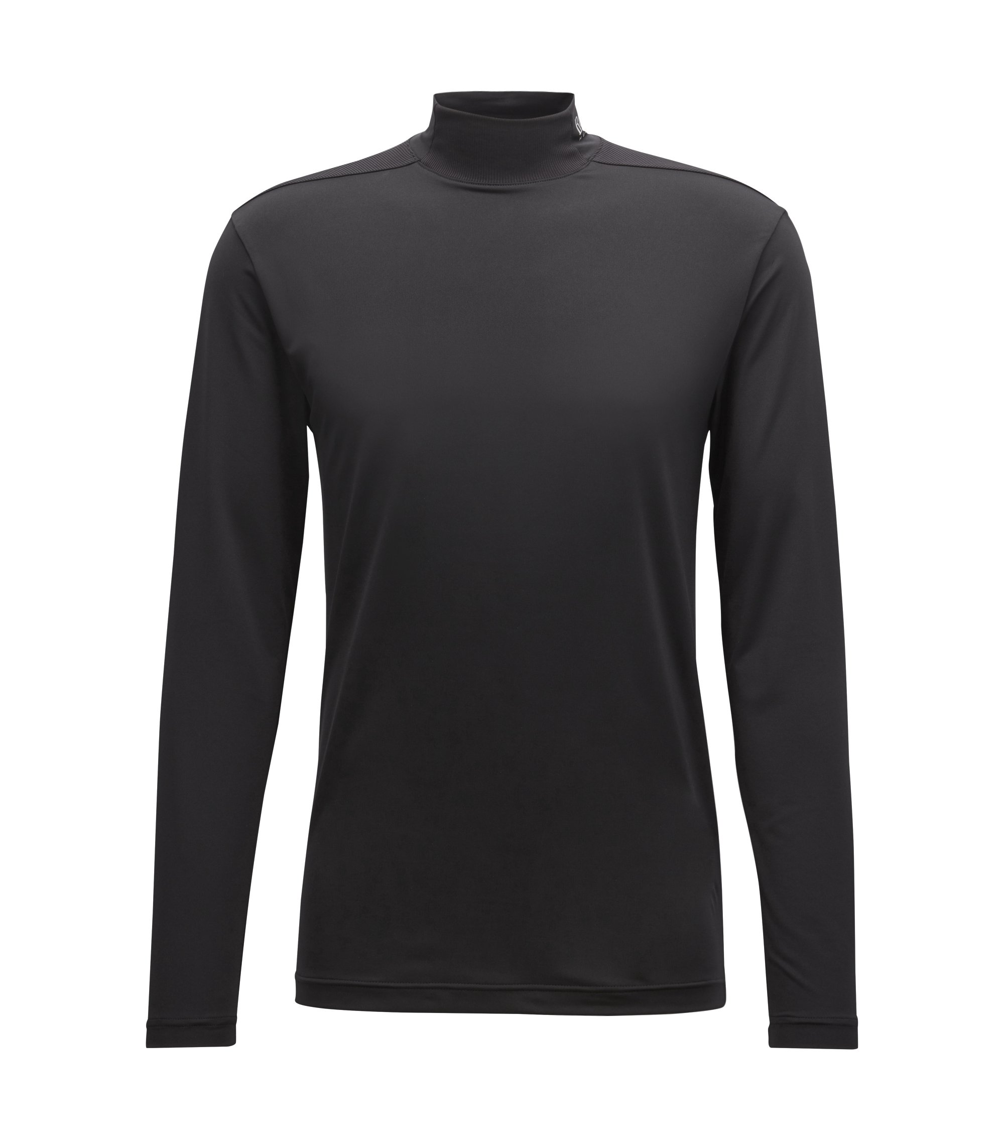 Extra-slim-fit jersey top with moisture management, Black