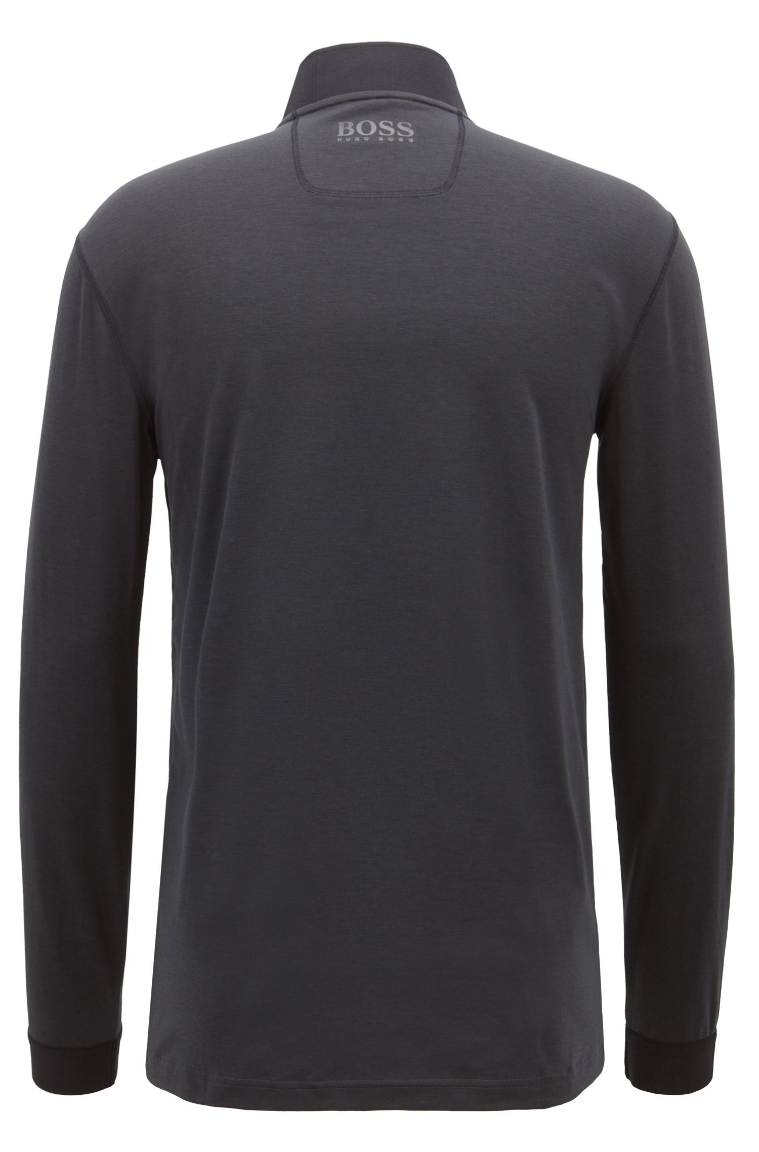 Extra-slim-fit polo shirt in performance fabric, Charcoal