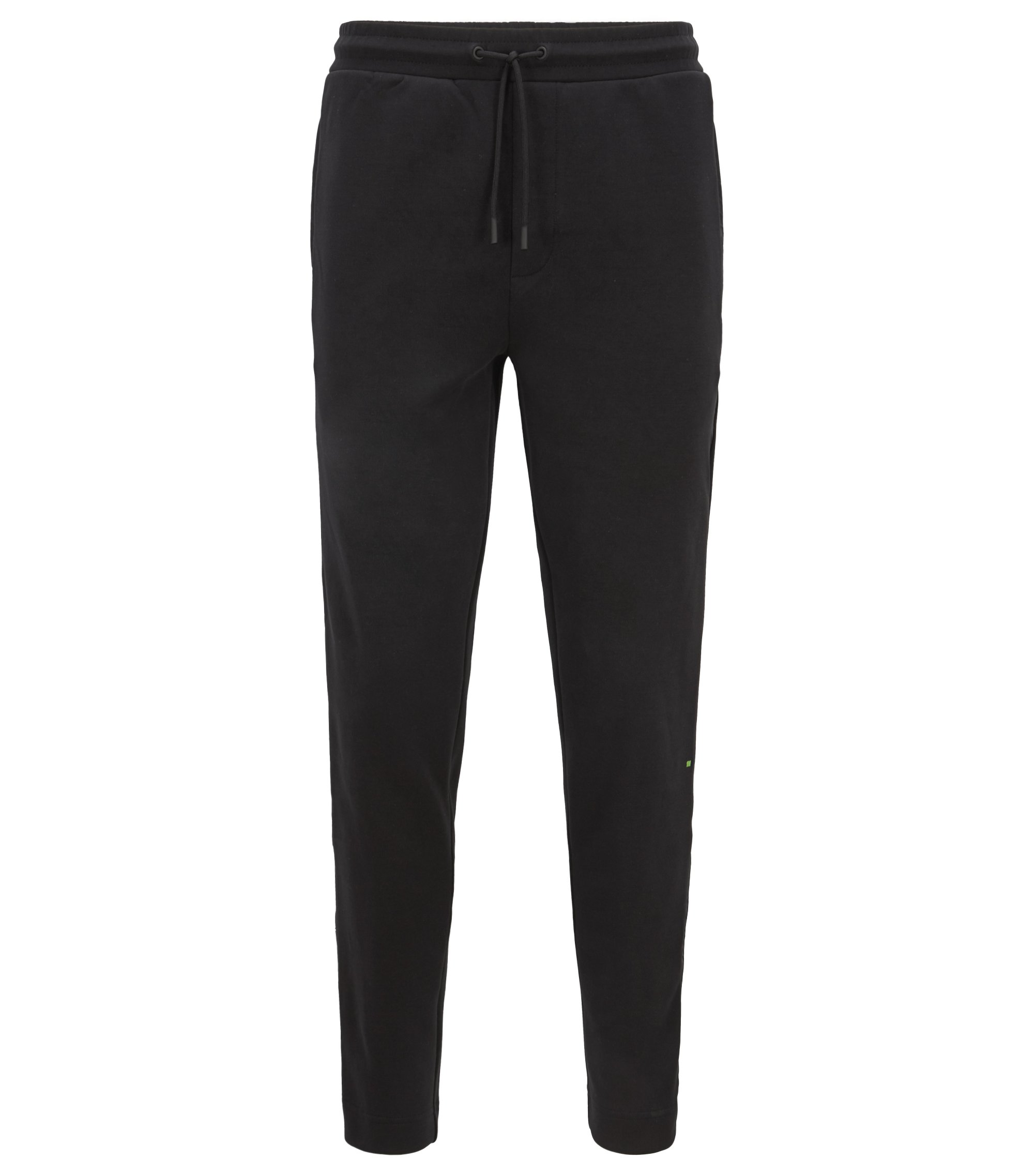 Slim-fit jogging pants with tonal side seams, Black