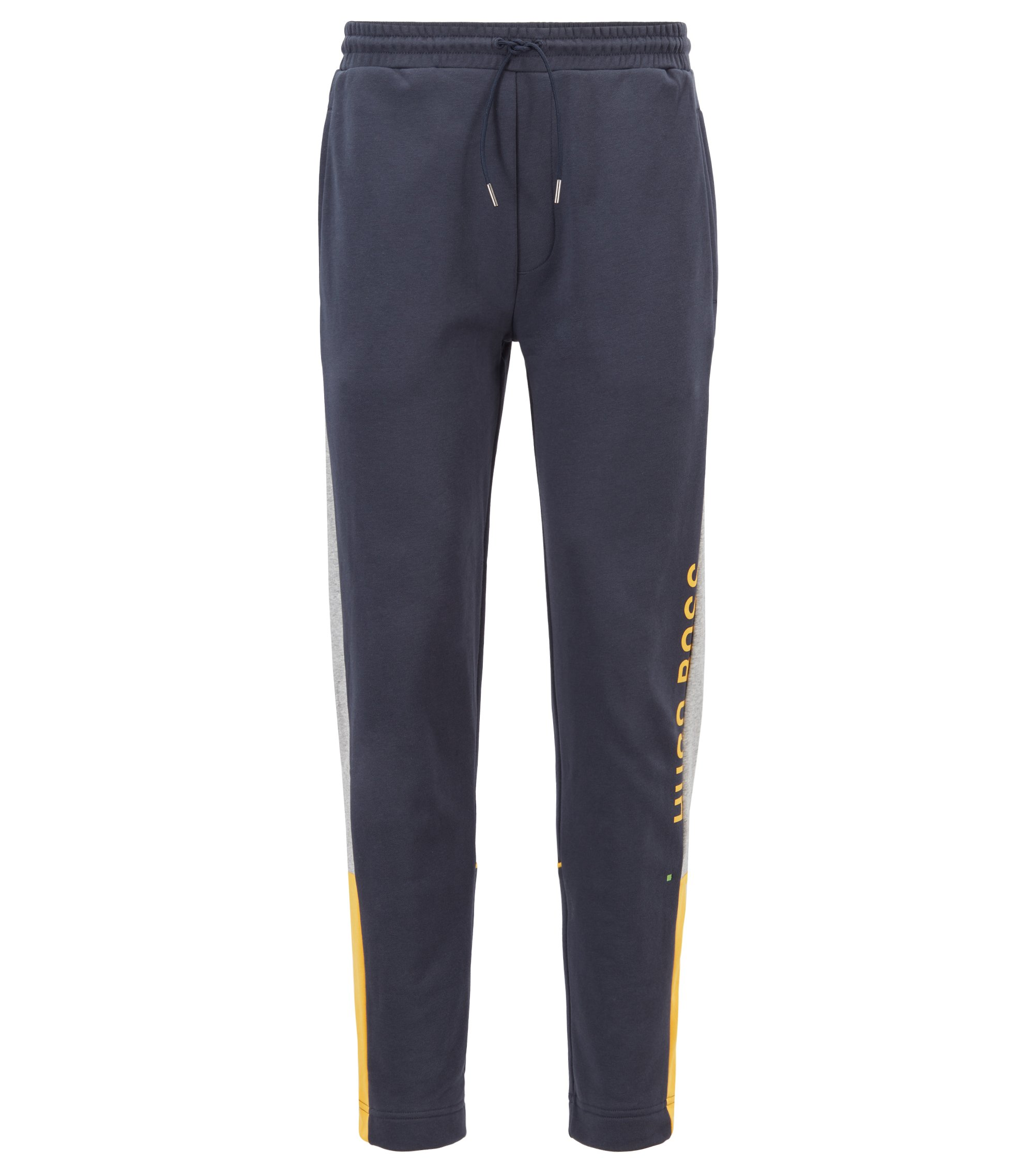 Color-block jogging pants in French terry, Dark Blue