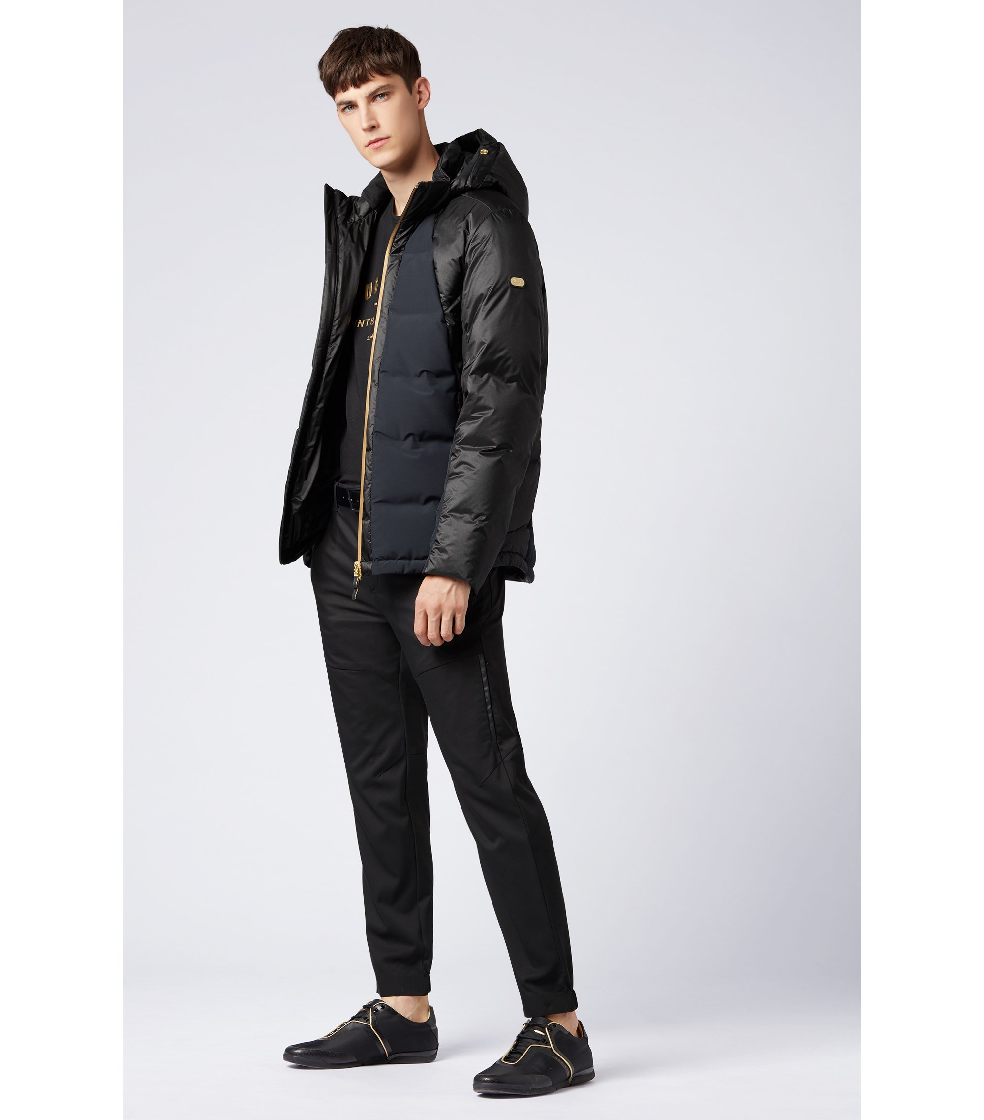Gold Capsule down-filled water-repellent jacket, Black