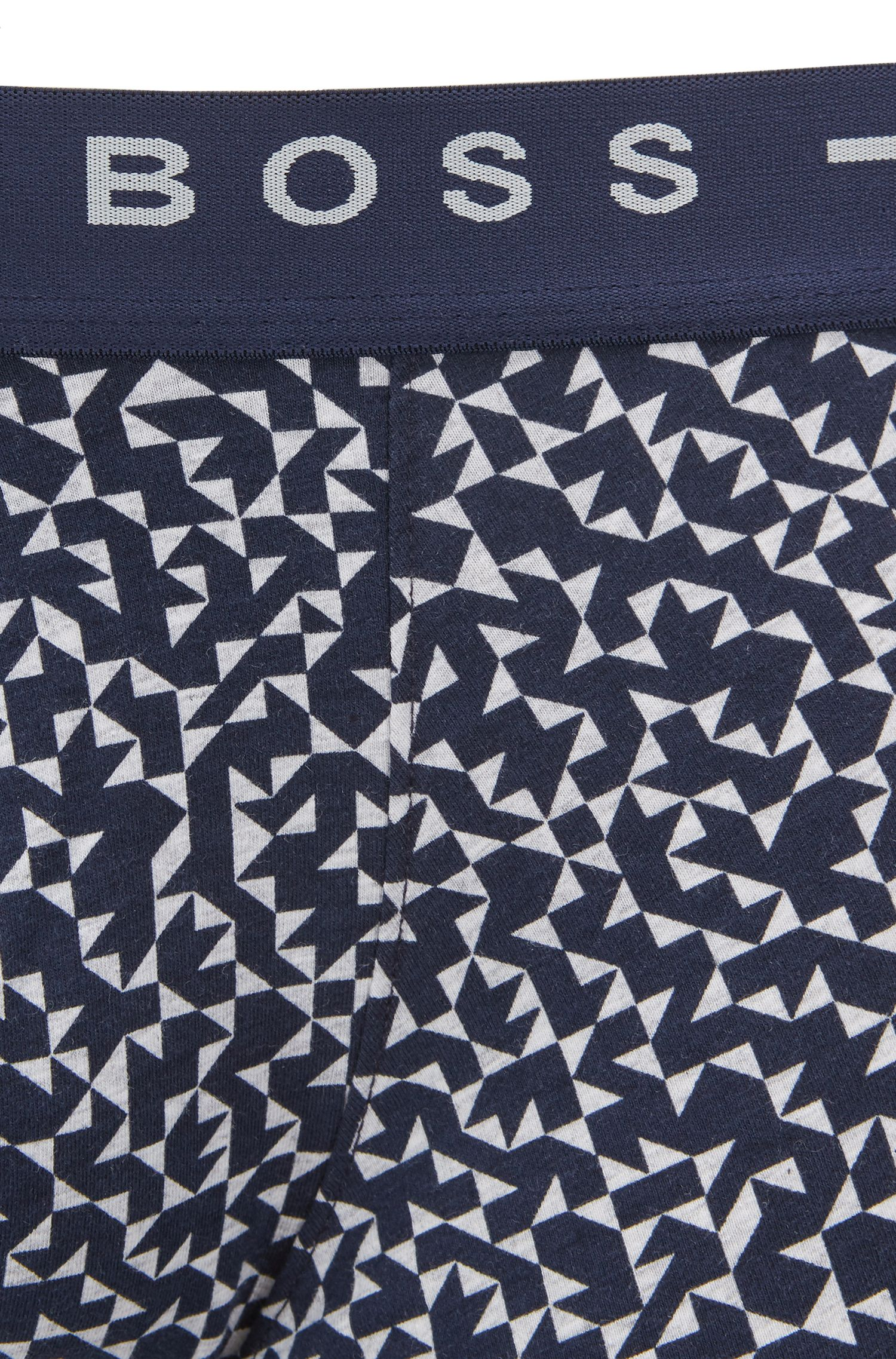 Stretch-cotton trunks with Anni Albers print, Open Grey