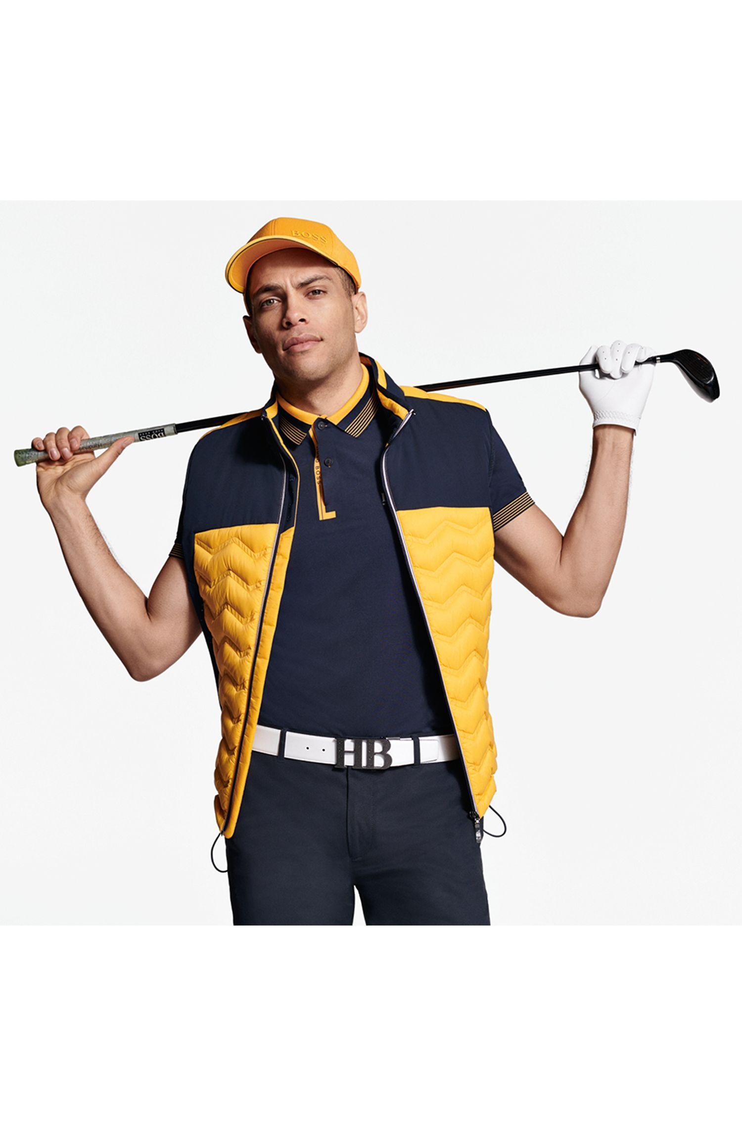 Regular-fit polo shirt with moisture management, Dark Blue