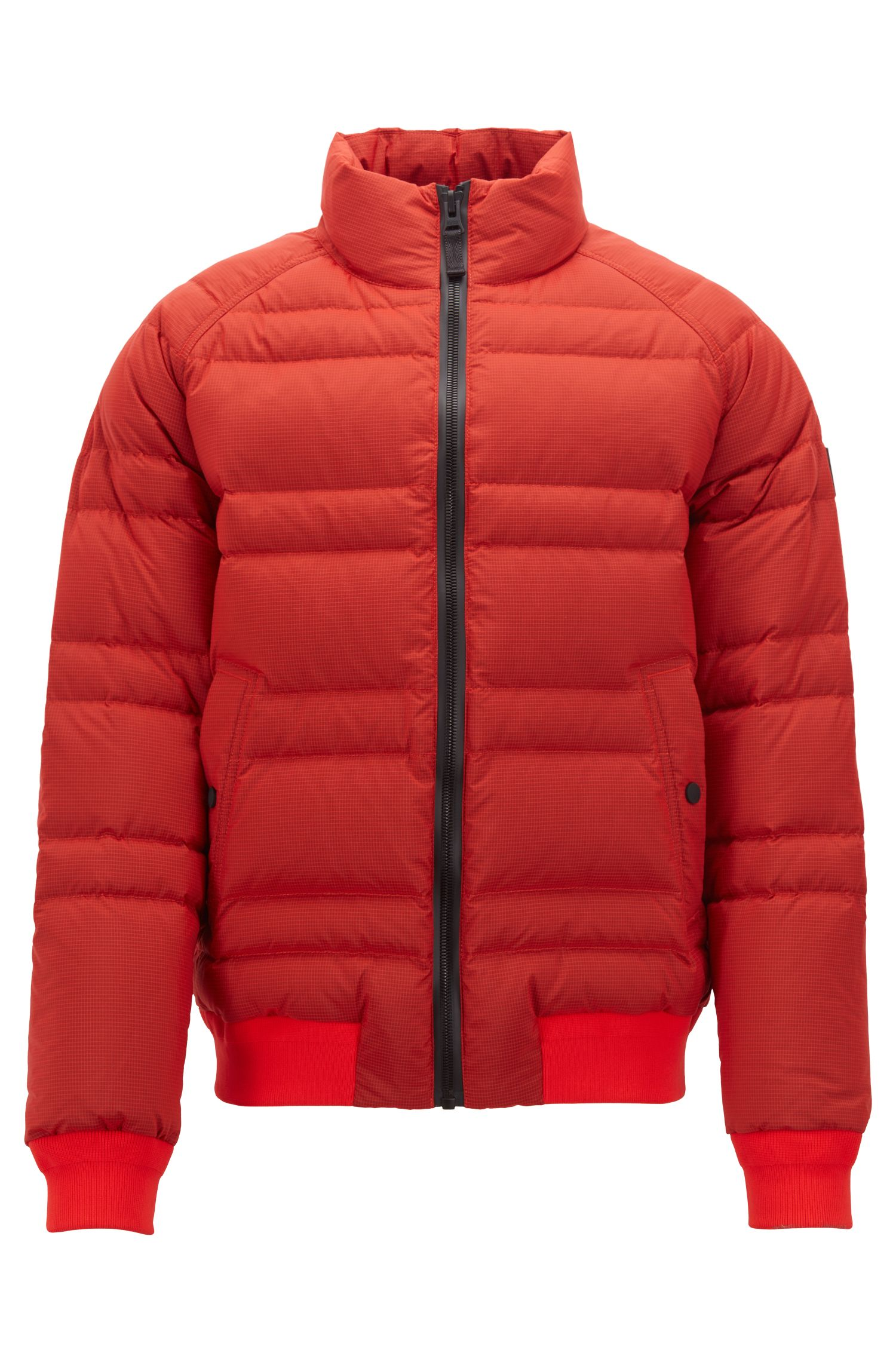 Down jacket in water-repellent ripstop fabric, Open Red