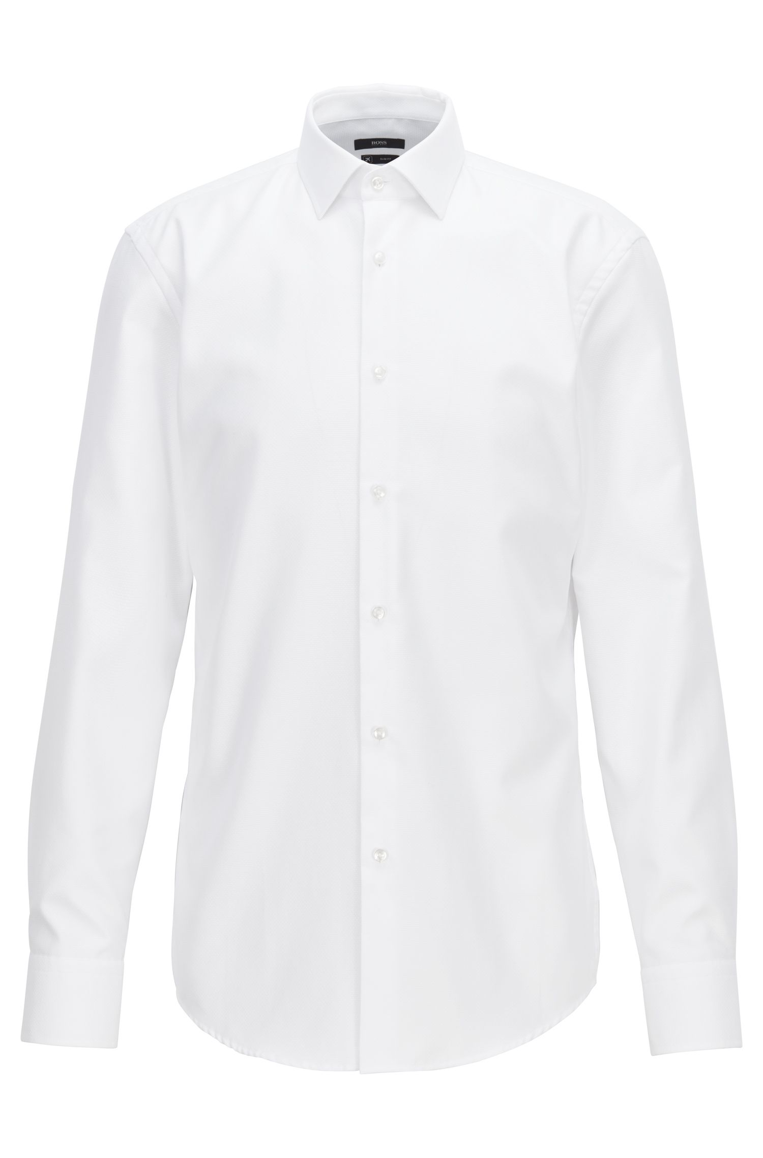 Travel Line slim-fit shirt in Fresh Active cotton, White