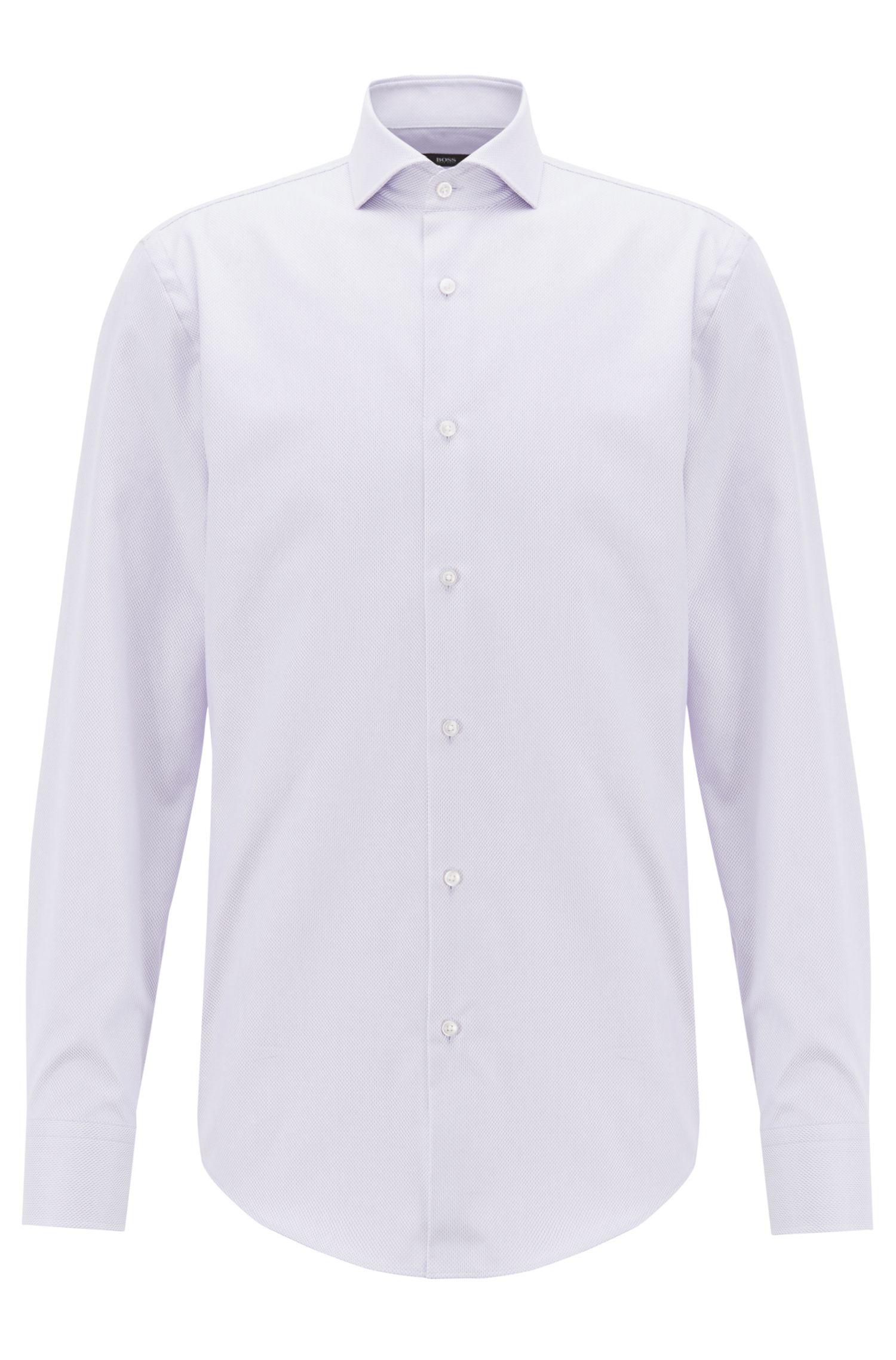 Slim-fit shirt in long-staple Egyptian cotton, Light Purple