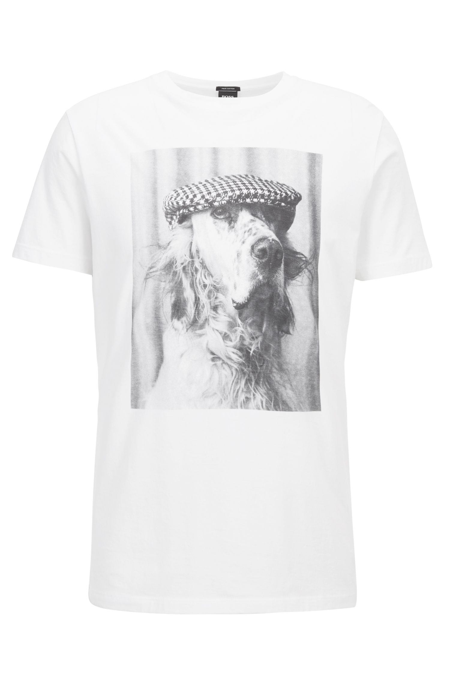 Crew-neck T-shirt in Pima cotton with photo print