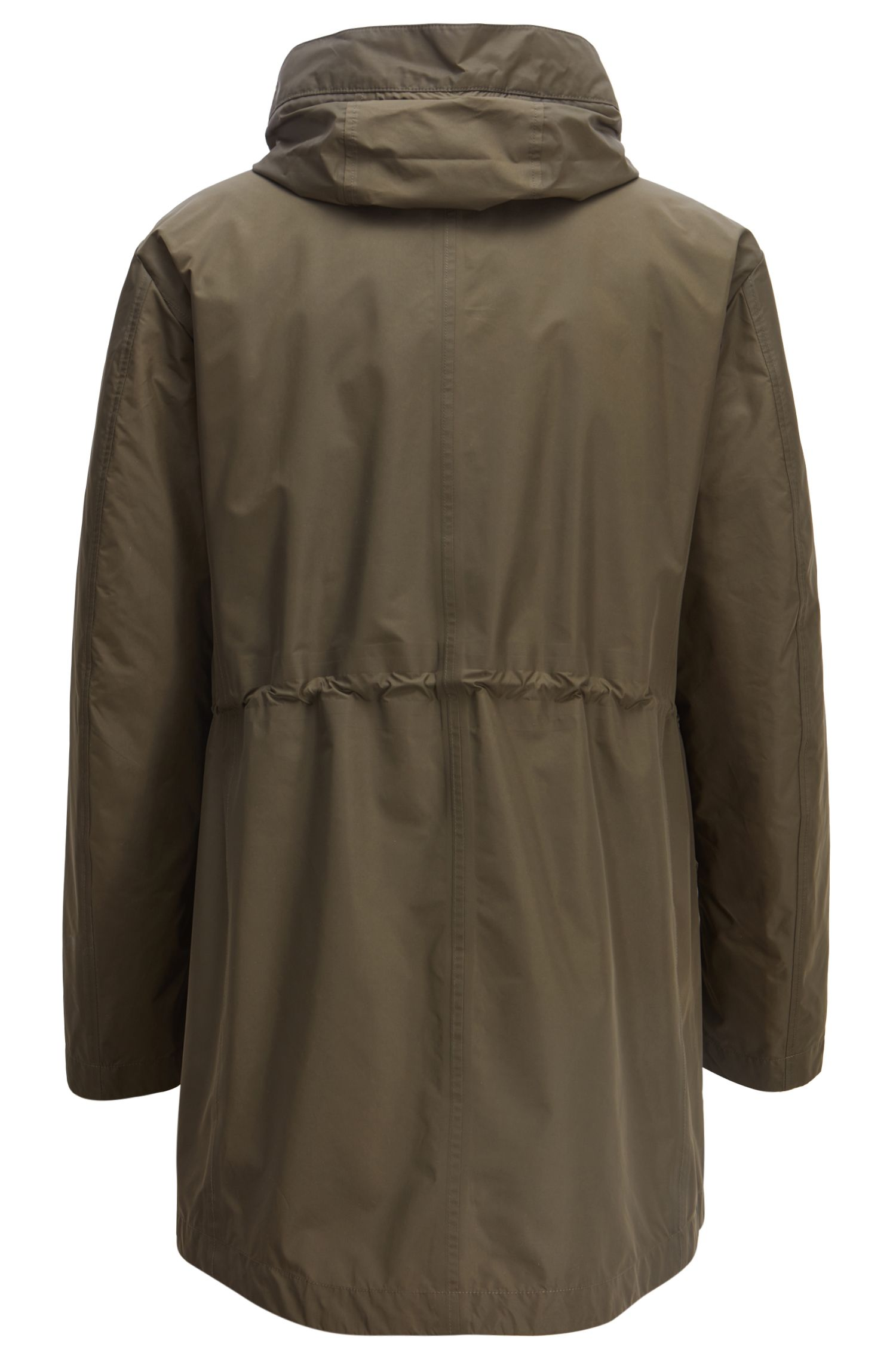 Three-in-one water-repellent parka with taped seams, Open Green