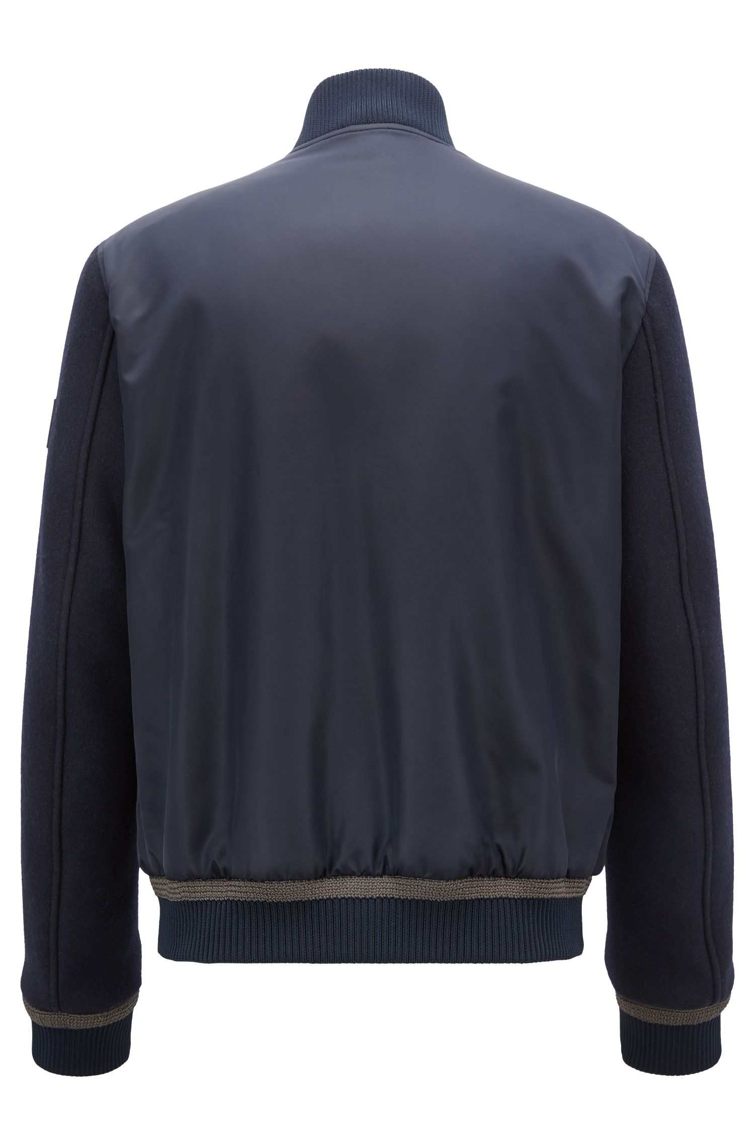 Lightly quilted bomber jacket in water-repellent fabric, Open Blue