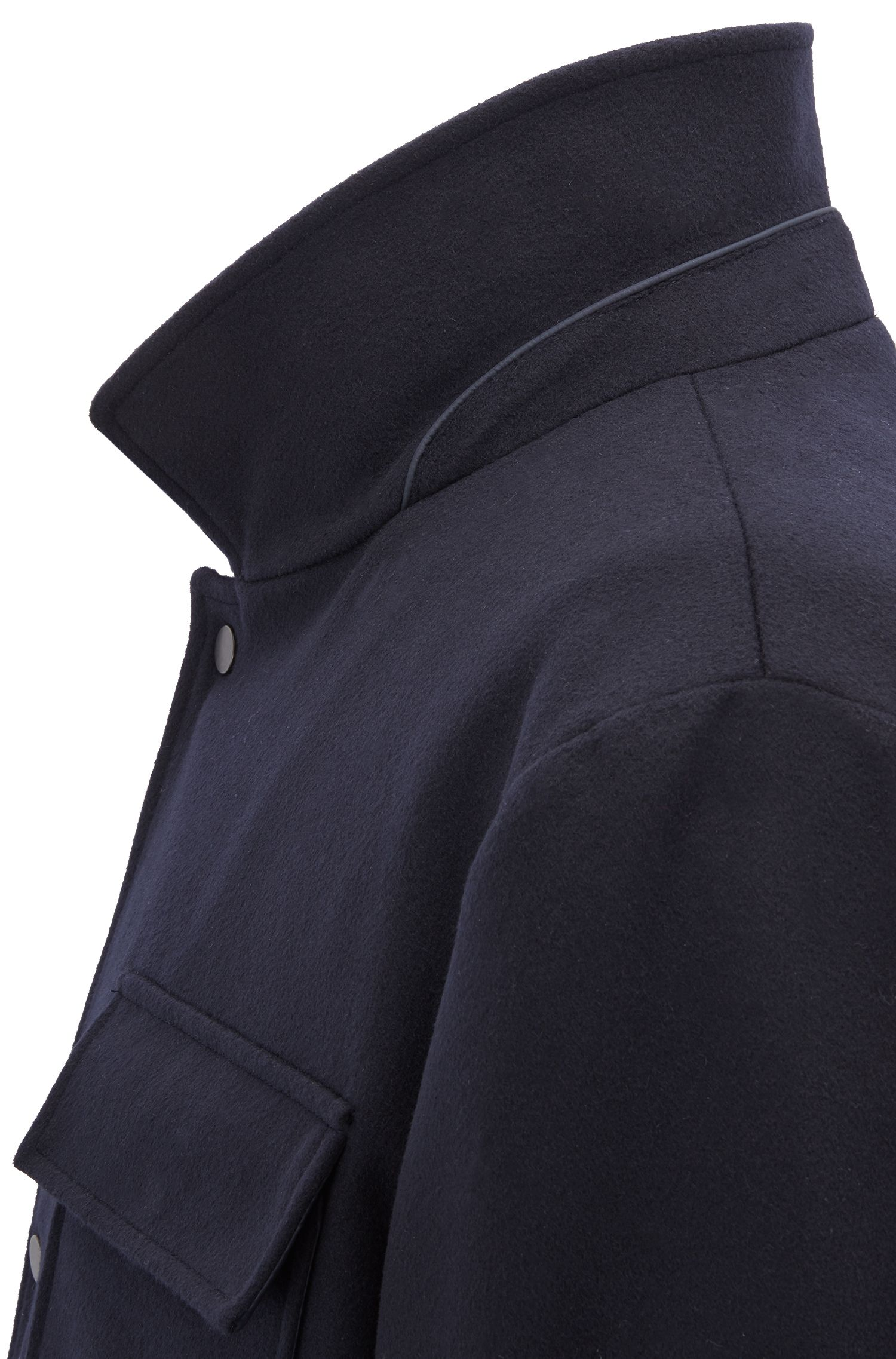 Three-in-one water-repellent jacket with detachable vest, Open Blue