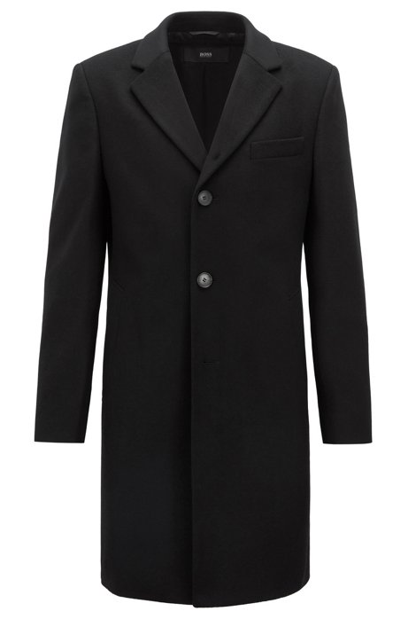 ec7bbd61a3ff BOSS - Formal coat in wool and cashmere with notch lapels