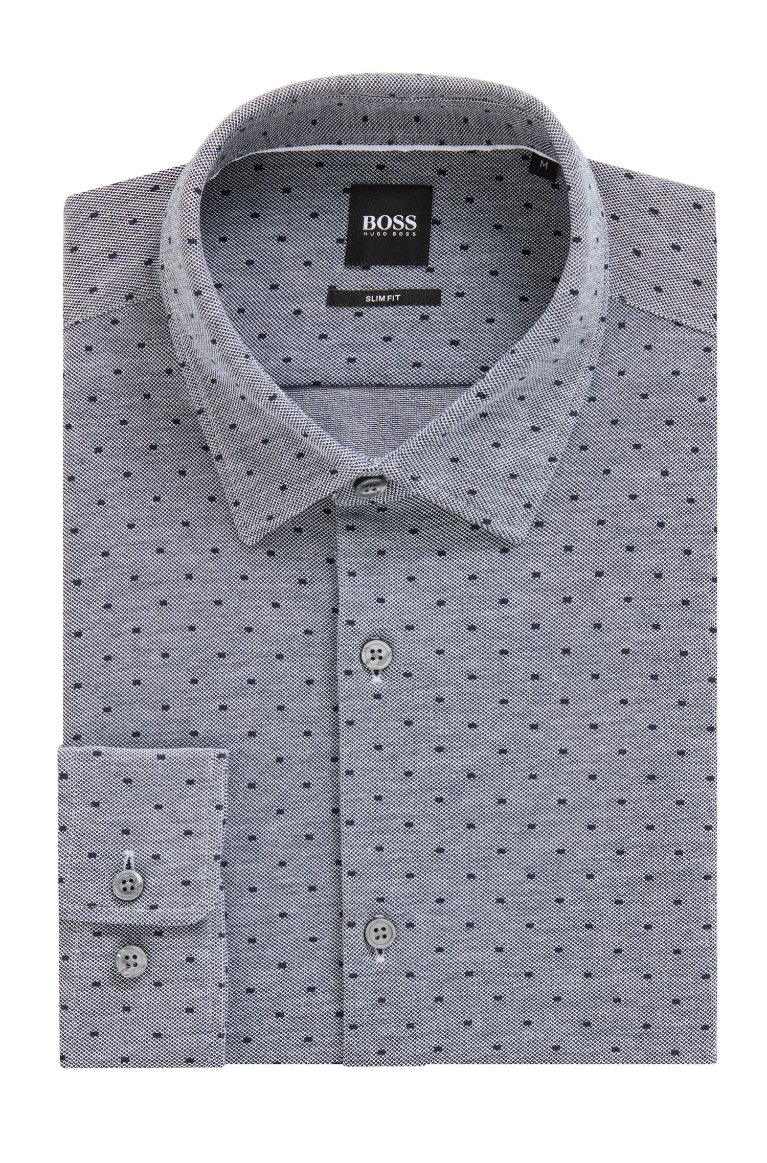 Slim-fit shirt with exclusive all-over print