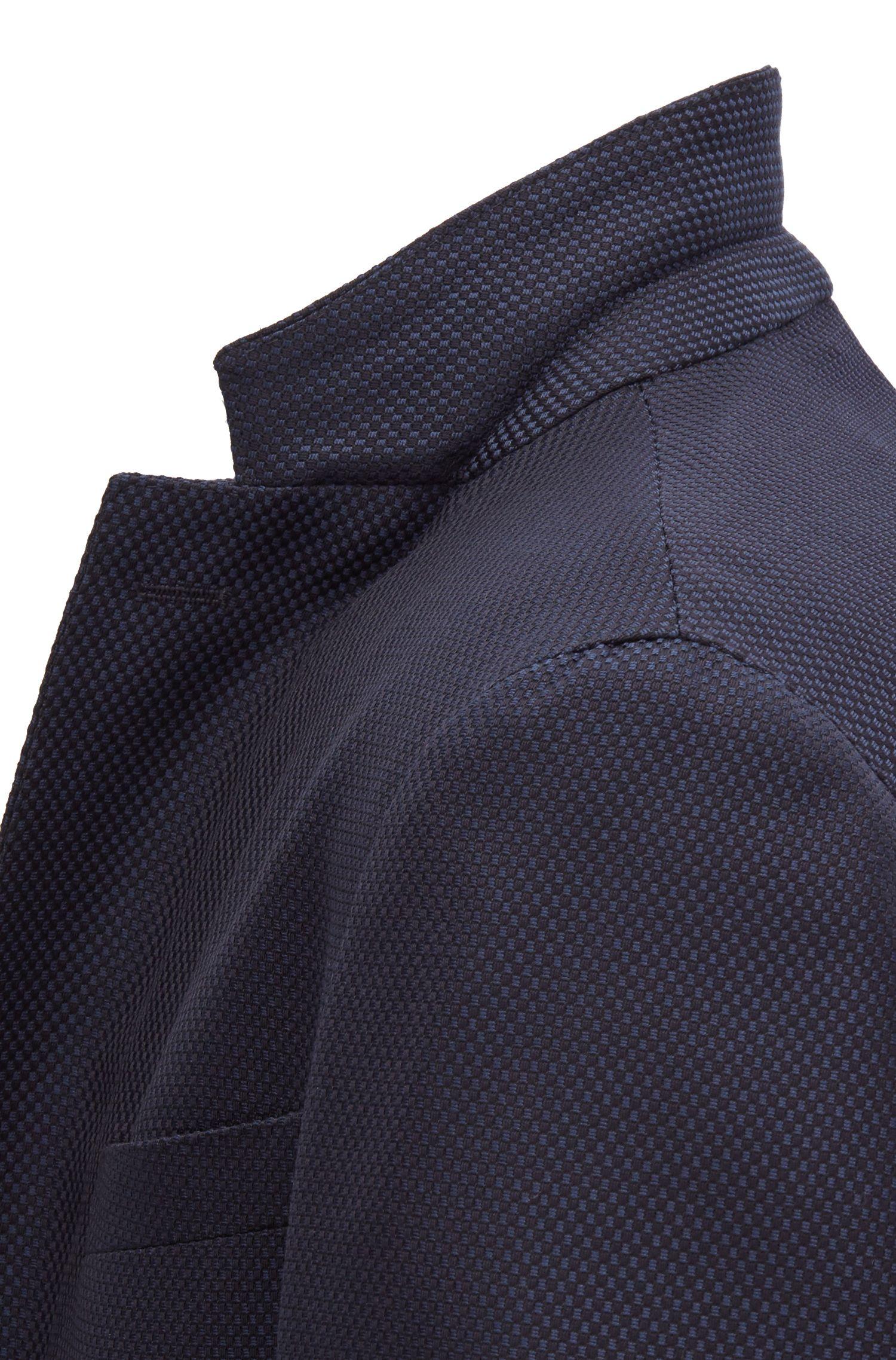 Slim-fit blazer in a washable virgin-wool blend, Open Blue
