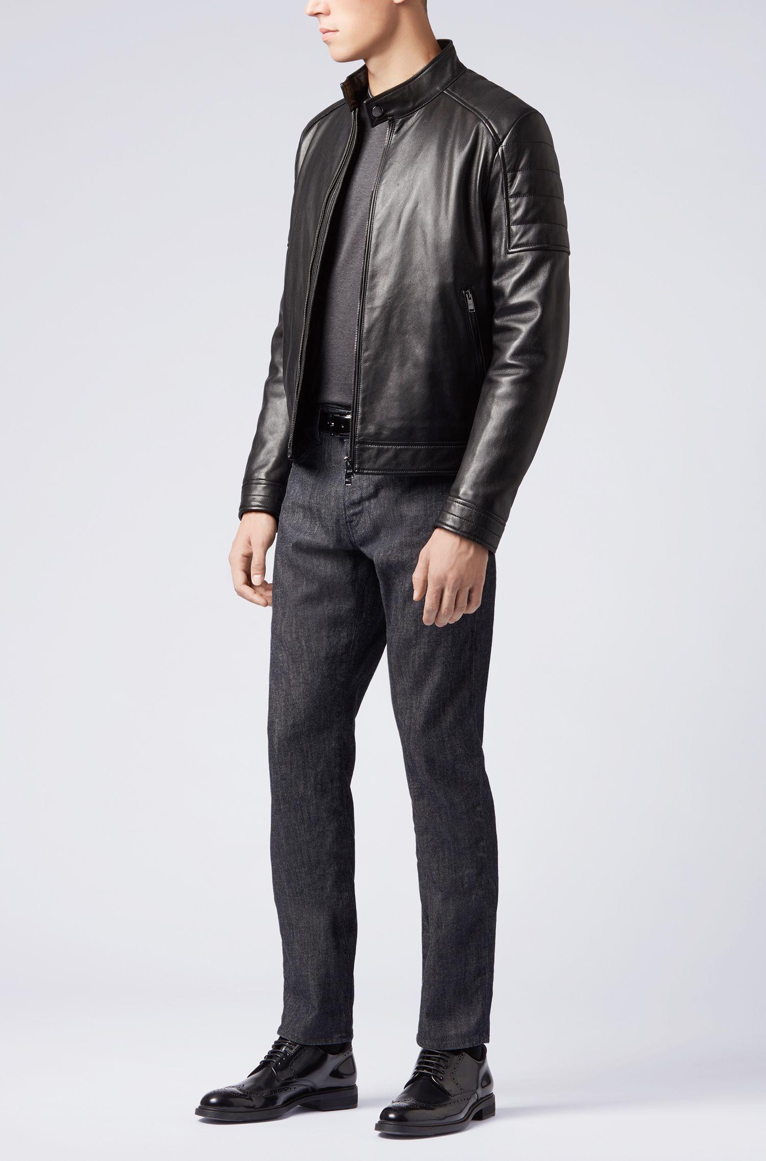 Slim-fit jeans in Stay Dark Italian stretch denim, Dark Blue