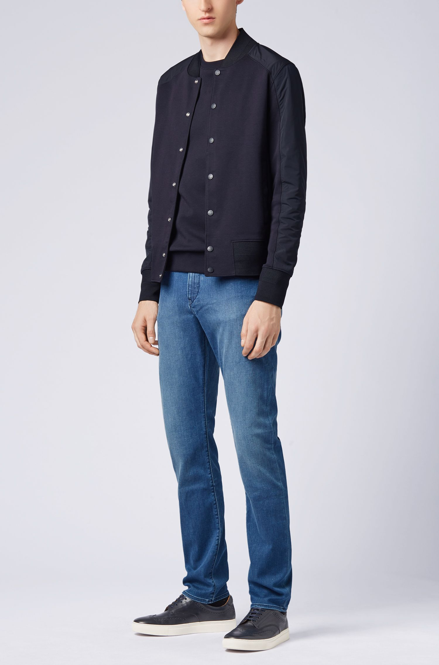 Slim-fit jeans in super-soft stretch denim, Turquoise