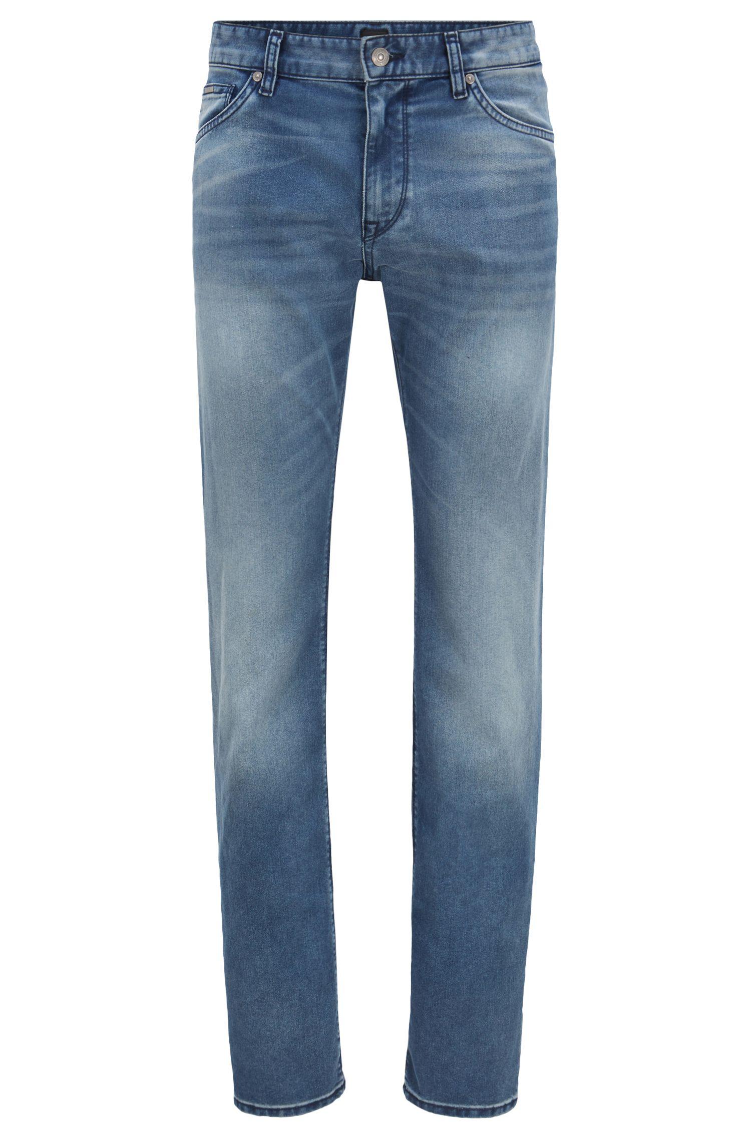 Regular-fit jeans in fine stretch denim, Blue
