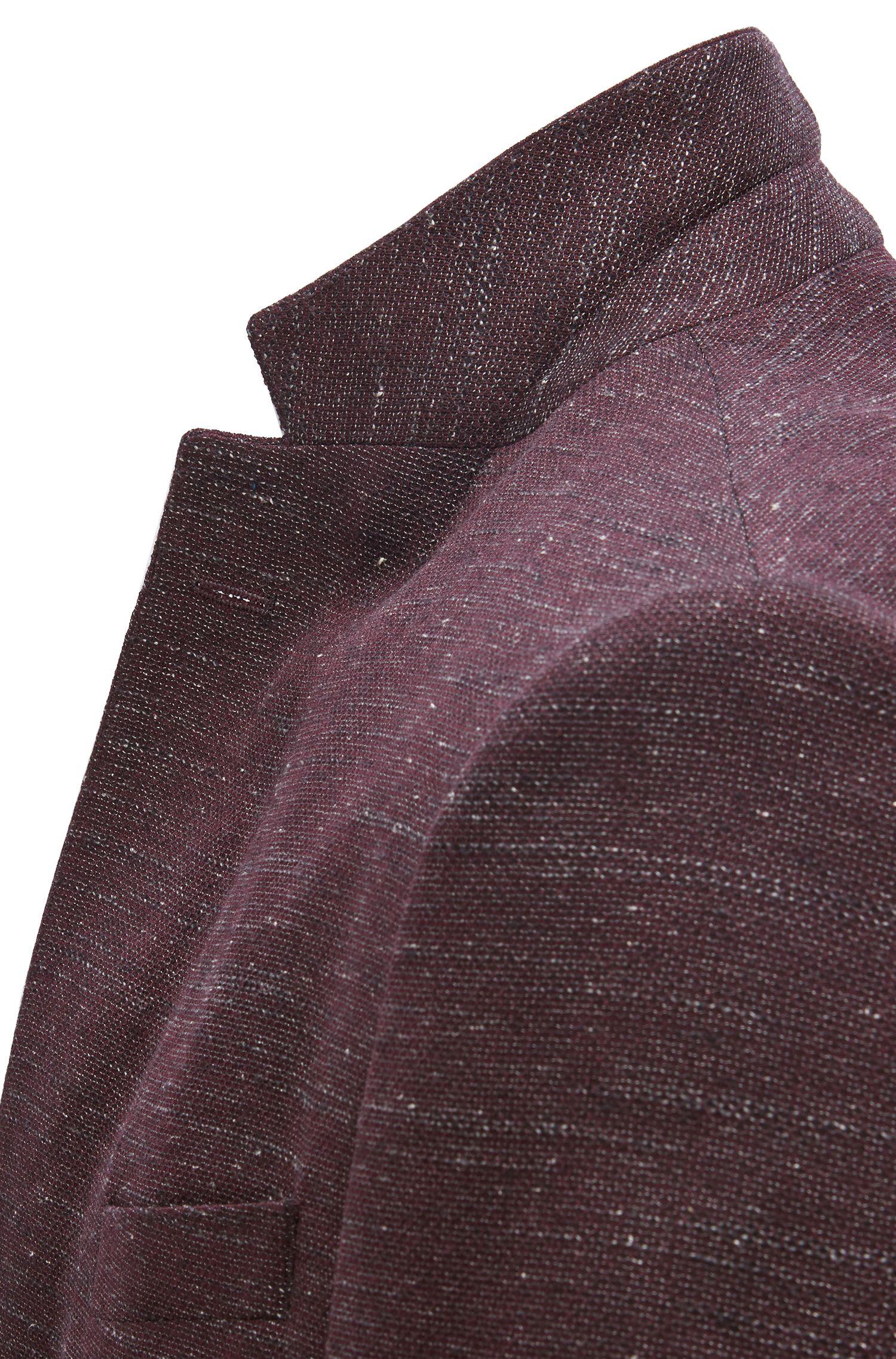 Slim-fit jacket in a virgin-wool blend, Dark Red