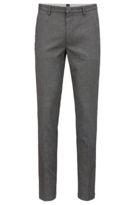 Slim Fit Chinos In Stretch Fabric With Tapered Leg by Boss