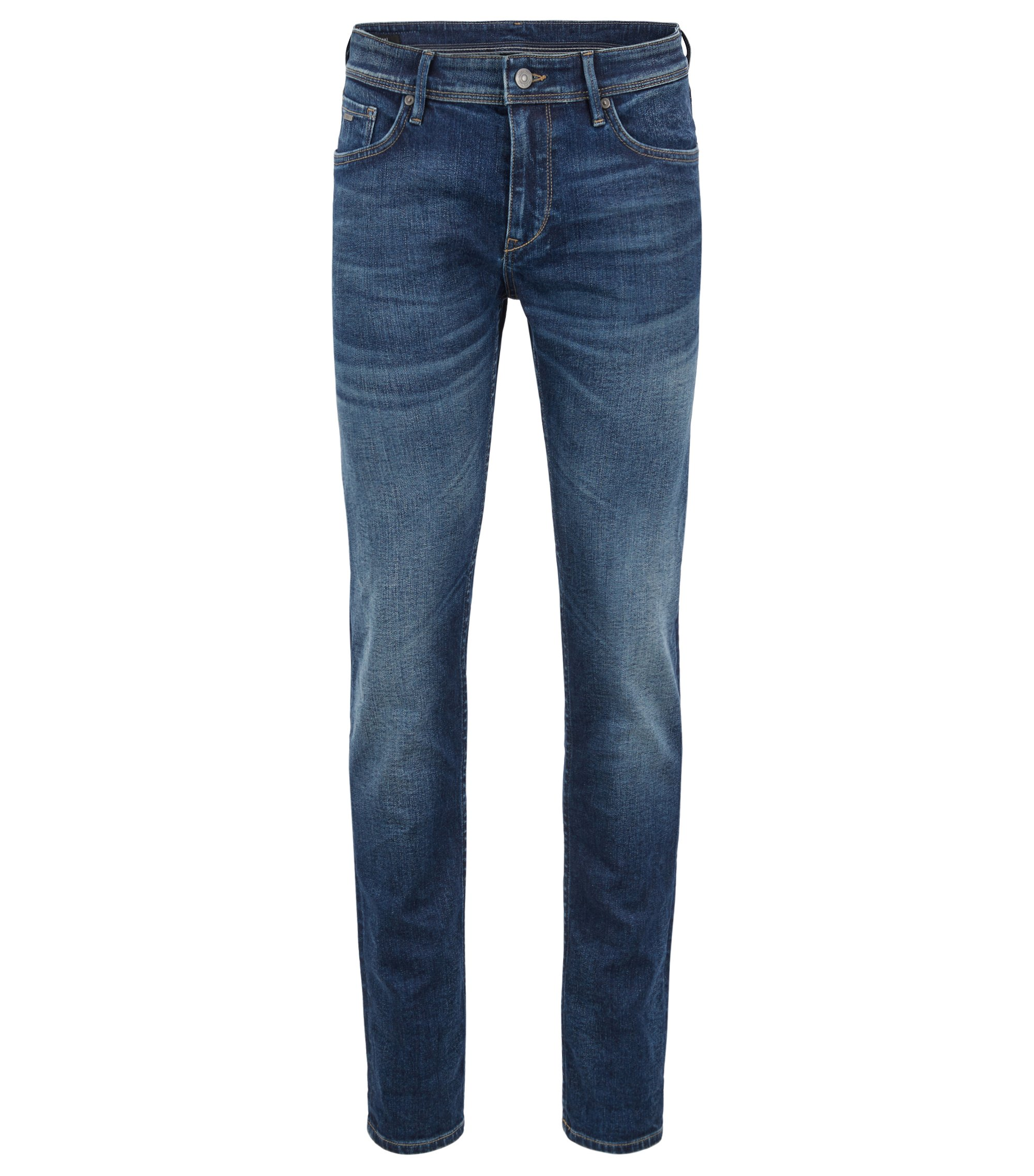 Extra-slim-fit jeans in Italian super-stretch denim, Blue