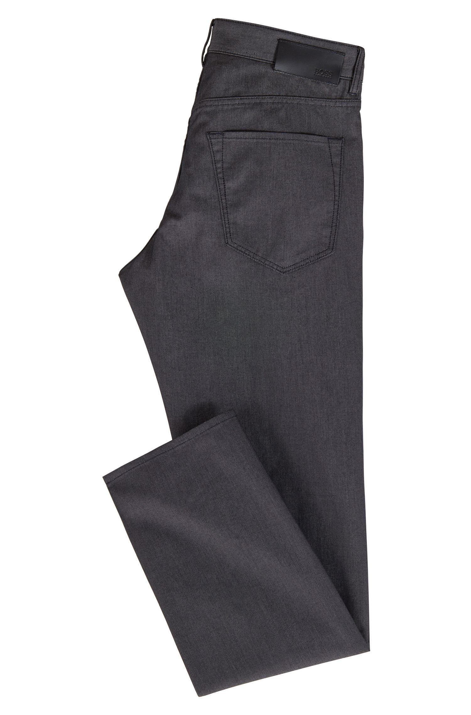 Regular-fit jeans in two-tone stretch denim, Black