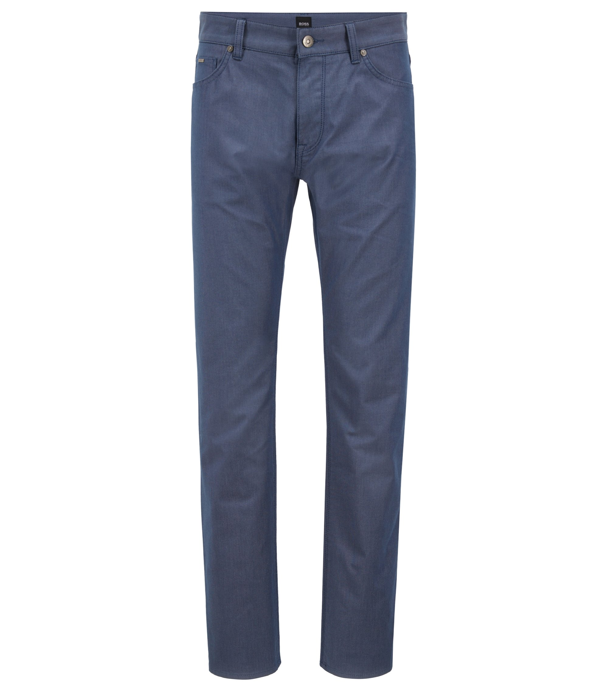 Regular-fit jeans in two-tone stretch denim, Open Blue