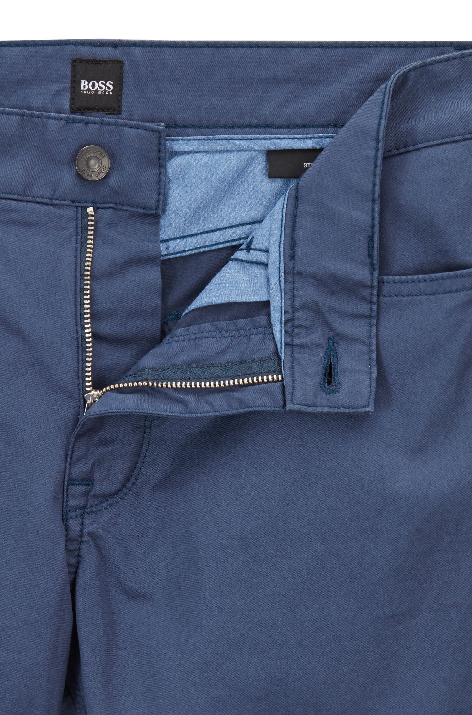 Regular-fit jeans in soft-washed stretch cotton, Open Blue