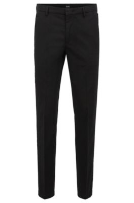 Slim Fit Chinos In Mercerized Stretch Cotton Twill by Boss