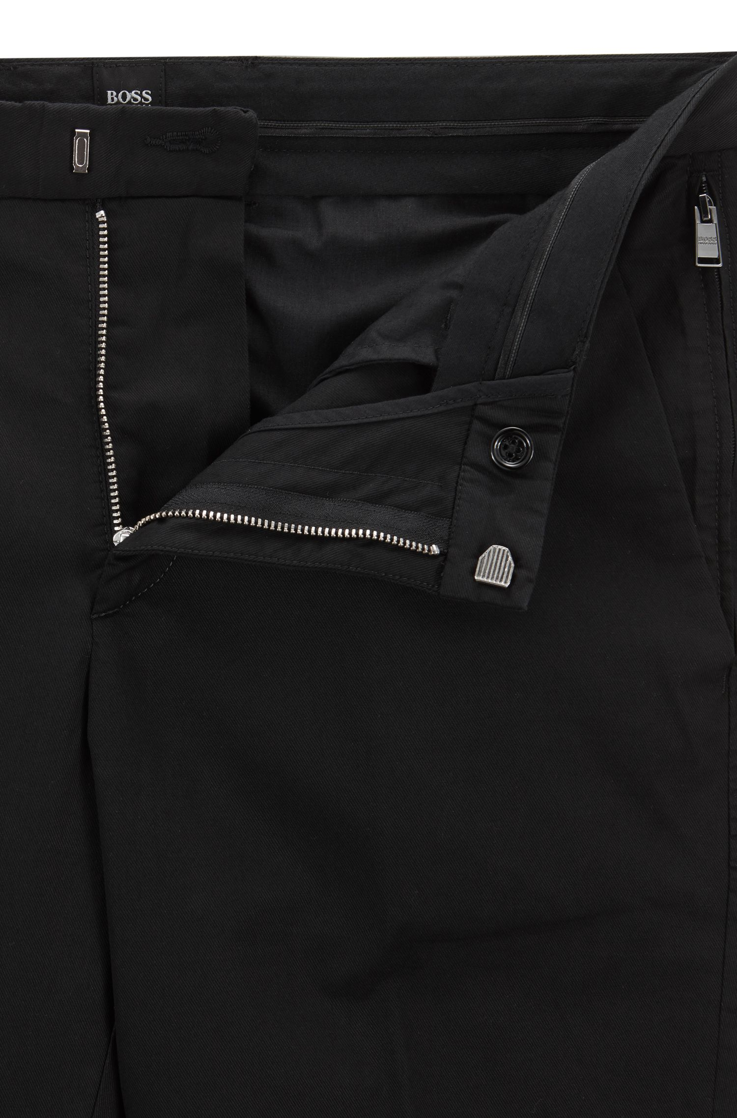 Slim-fit chinos in mercerized stretch-cotton twill