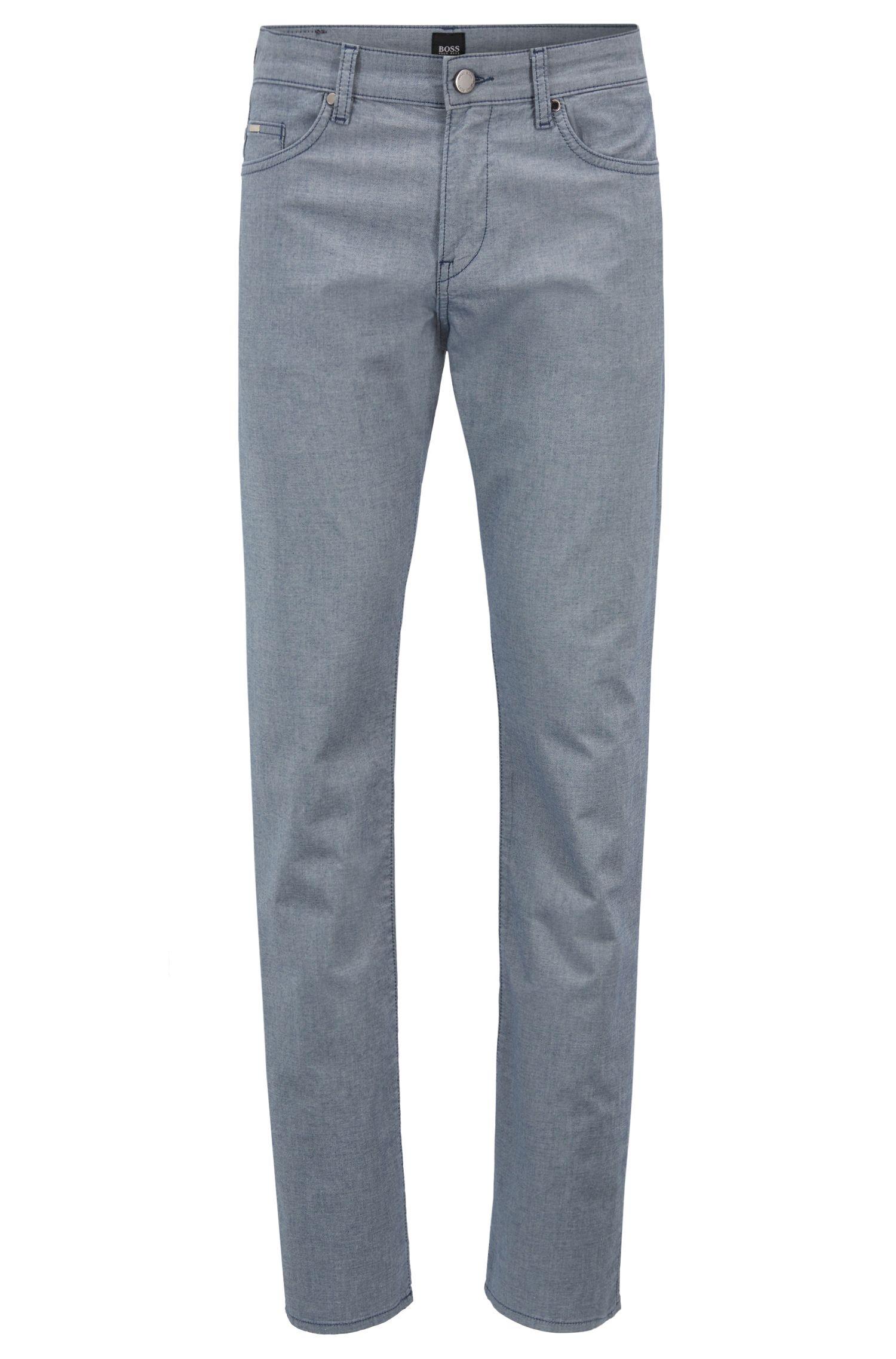 Slim-fit jeans in bicolored stretch denim twill, Open Blue