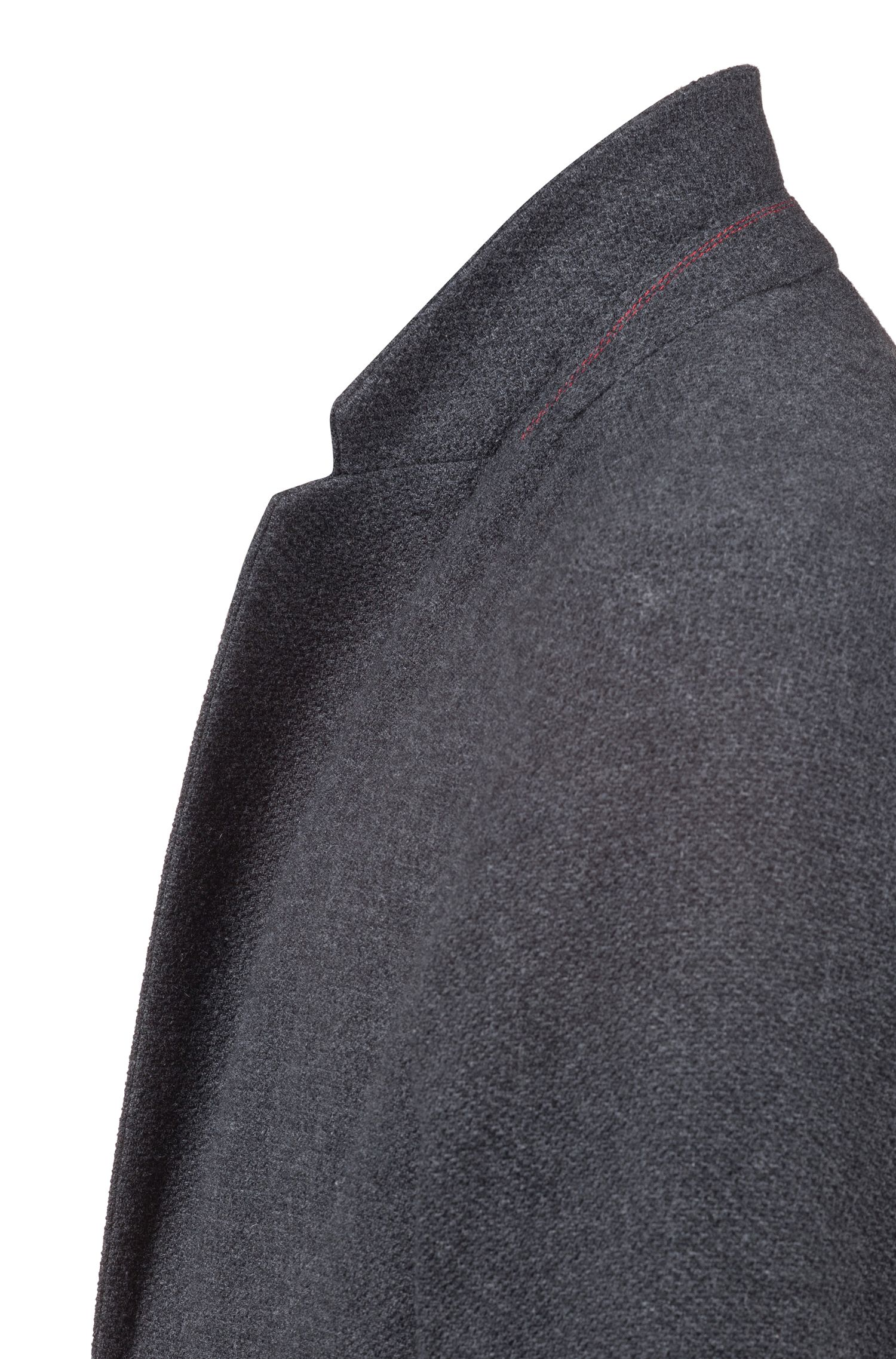 Relaxed-fit blazer in melange fabric, Dark Grey