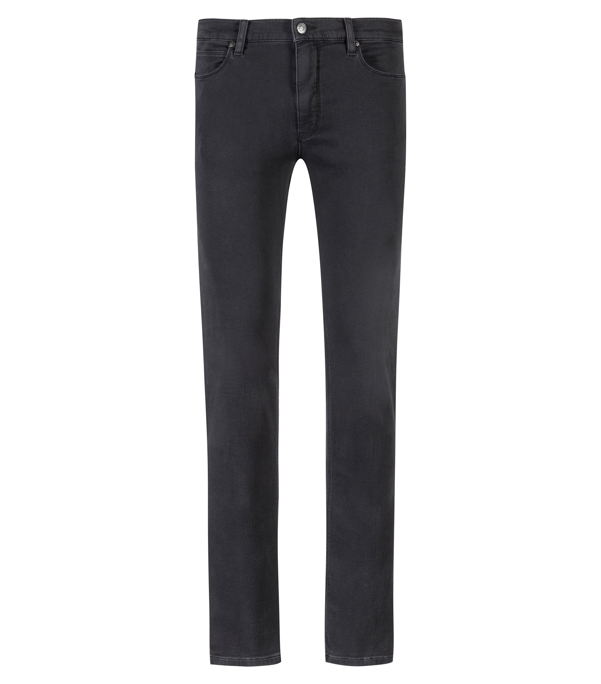 Skinny-fit jeans in charcoal stretch denim, Charcoal