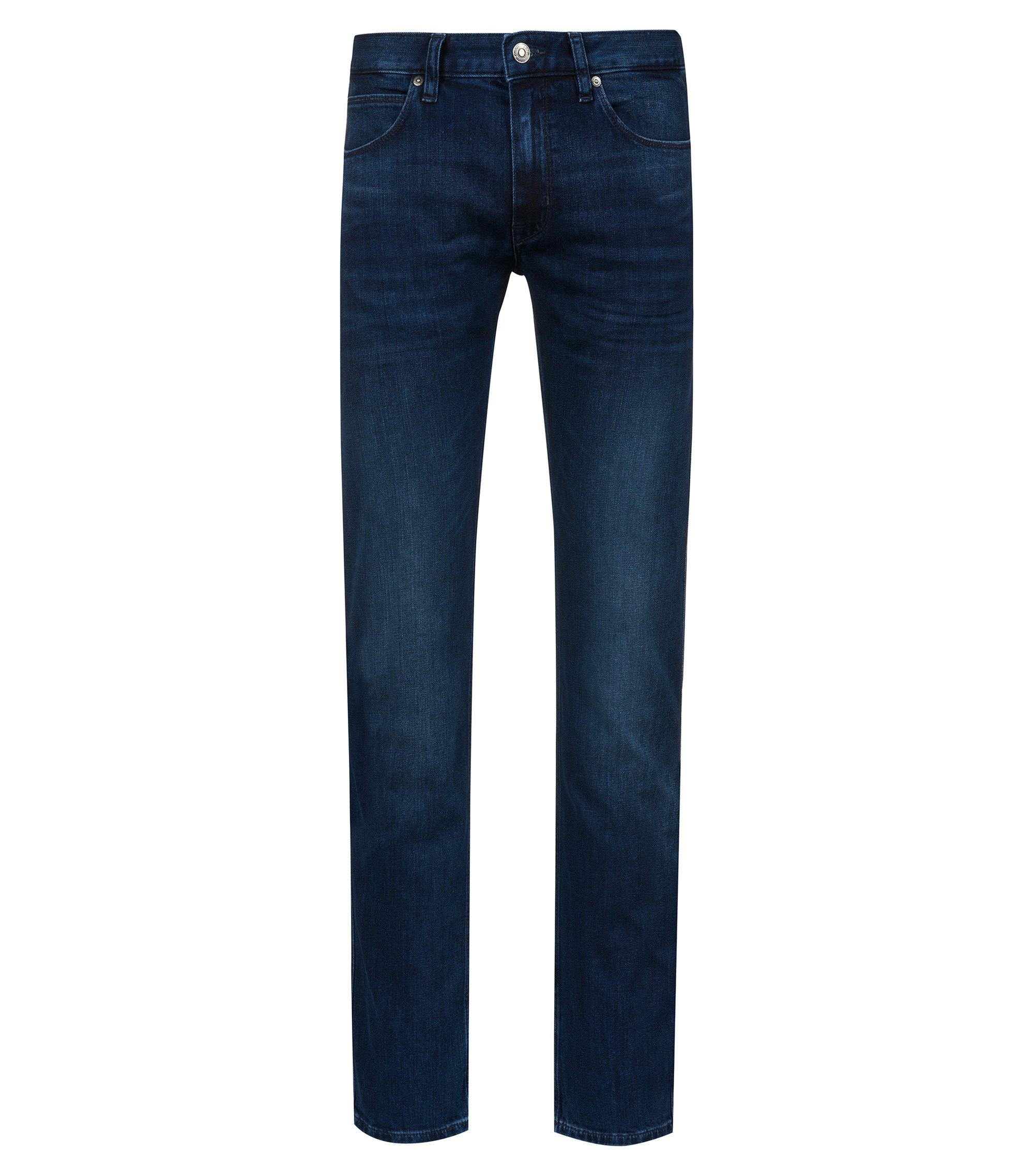 Slim-fit low-rise jeans in stretch denim, Blue