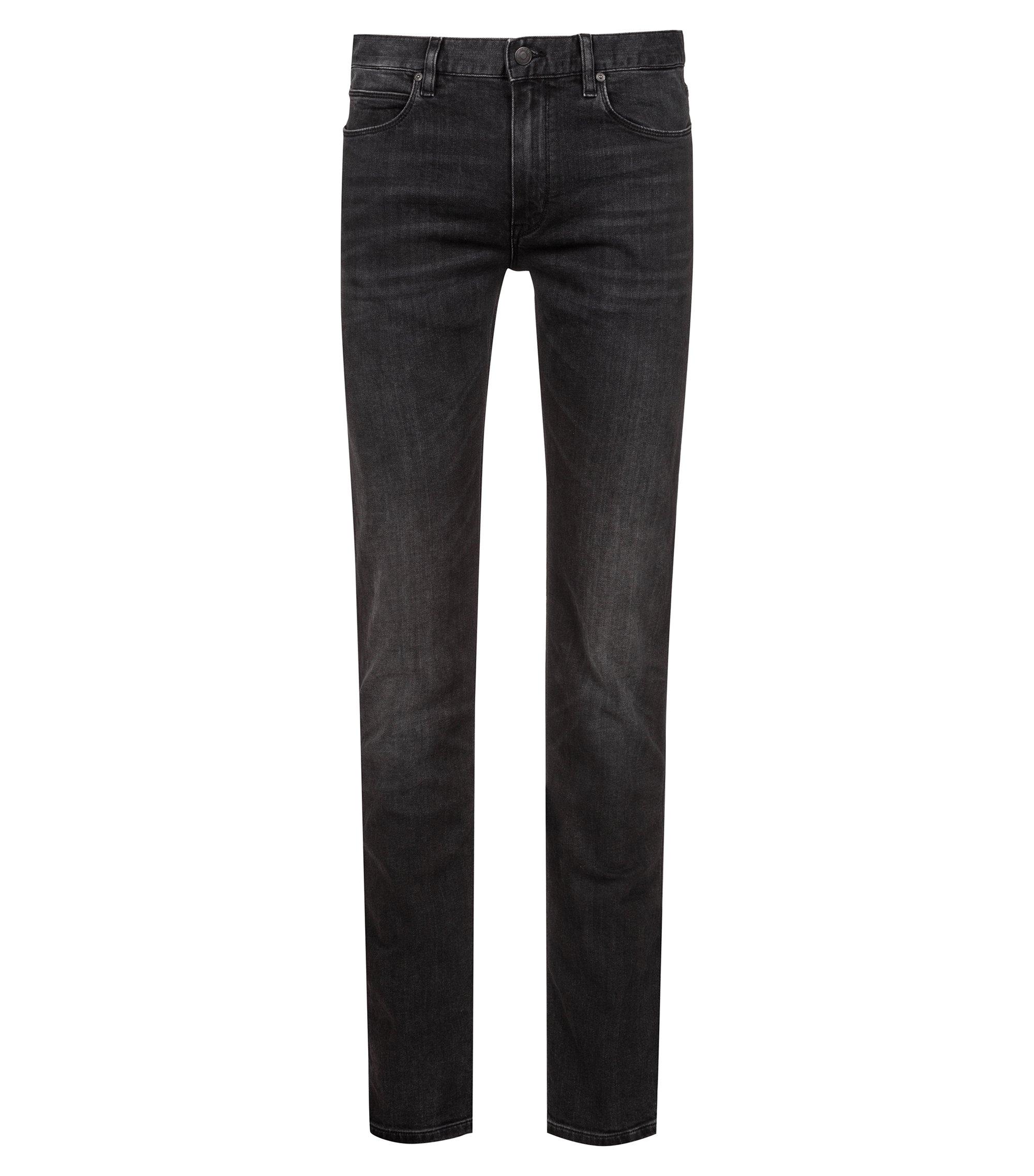 Slim-fit jeans in dark-gray stretch denim, Dark Grey